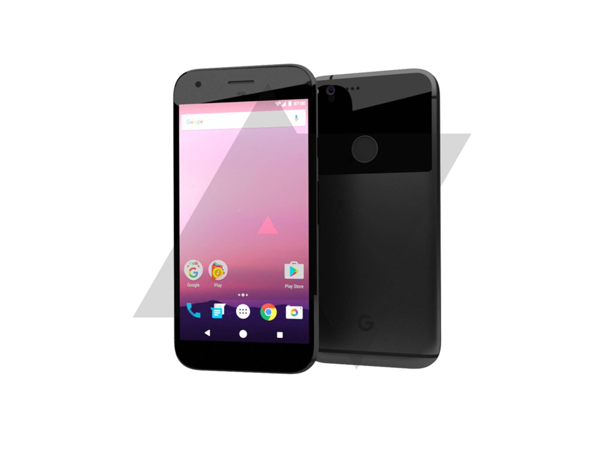 So sollen die neuen Pixel-Smartphones von Google aussehen.