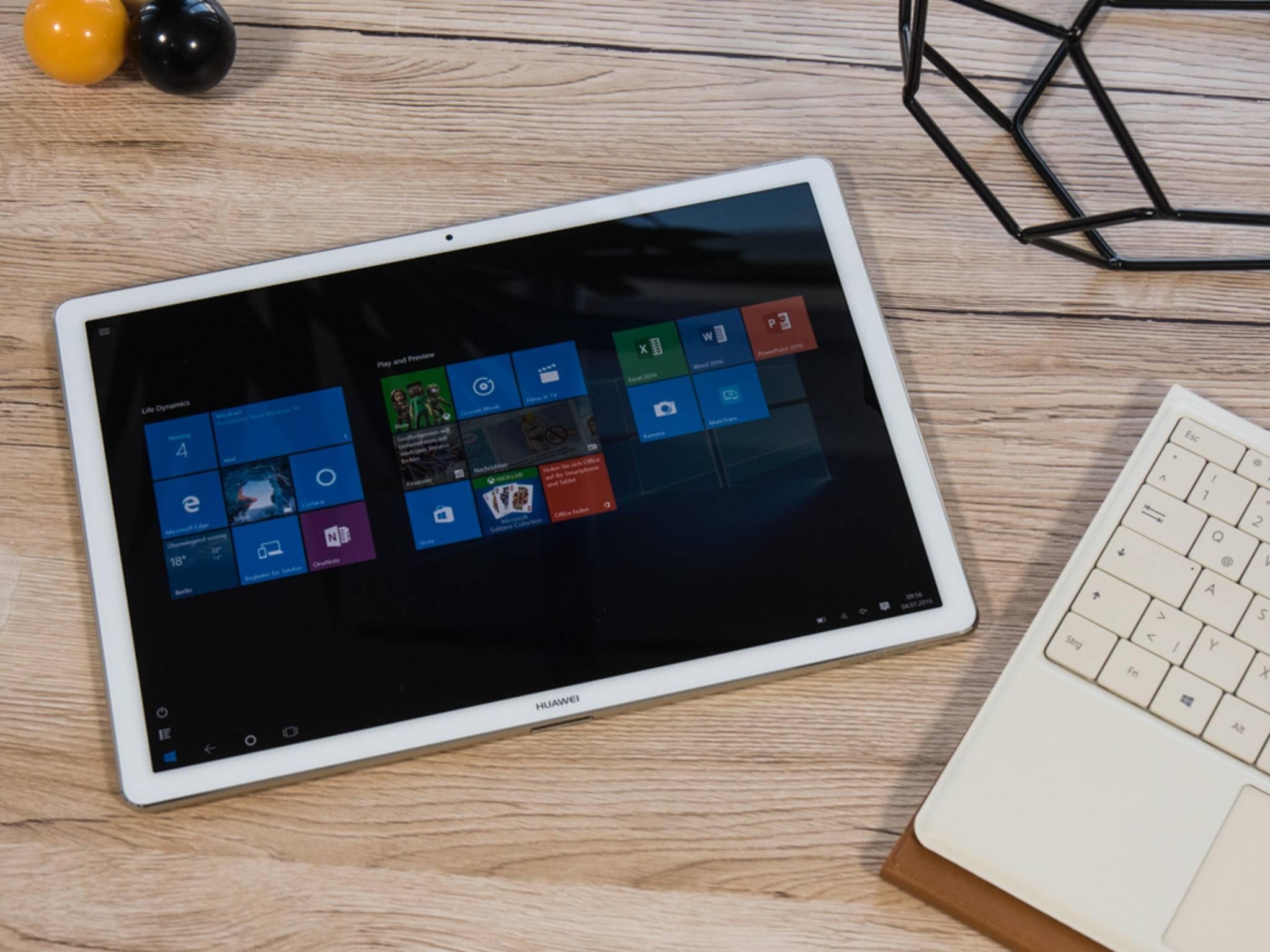 Das Huawei MateBook erinnert optisch stark an das iPad Pro.