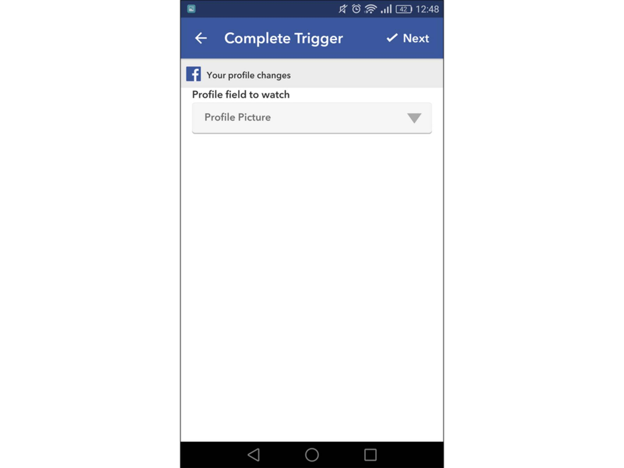 Facebook als Trigger bietet zahlreiche Auswahlmöglichkeiten.