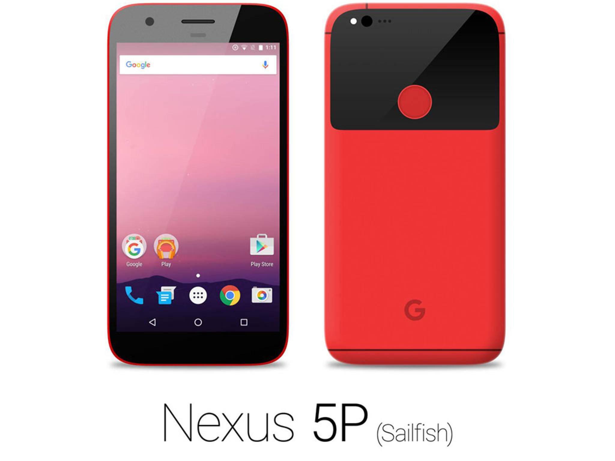 Erscheint das neue Nexus-Smartphone in einem knalligen Rot?