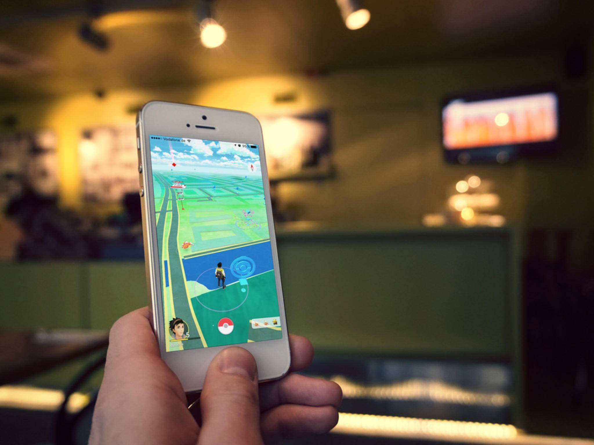"""In """"Pokémon Go"""" erobert man mit seinem Monster Arenen."""