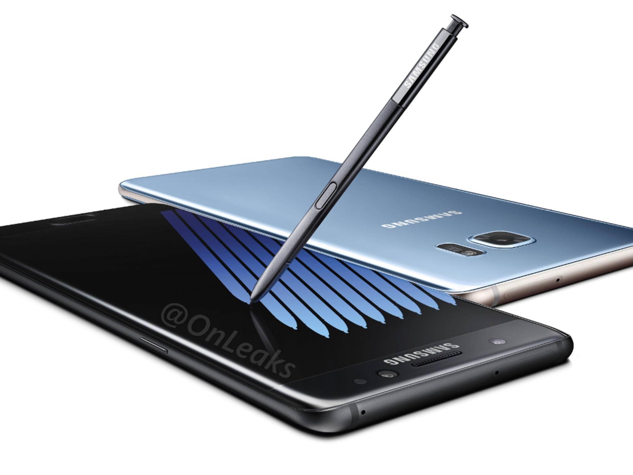 Das Galaxy Note 7 soll am 16. August in Europa erscheinen.