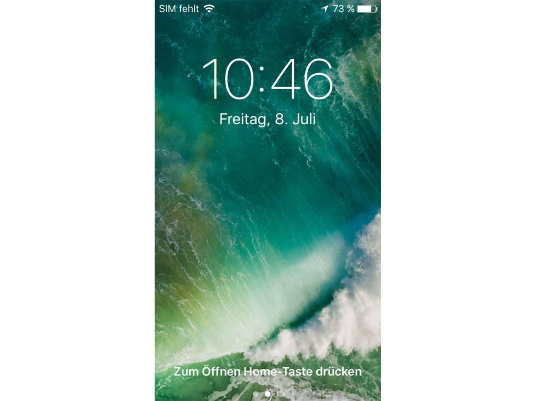 Slide-to-unlock sucht man in iOS 10 auf dem Sperrbildschirm vergebens.