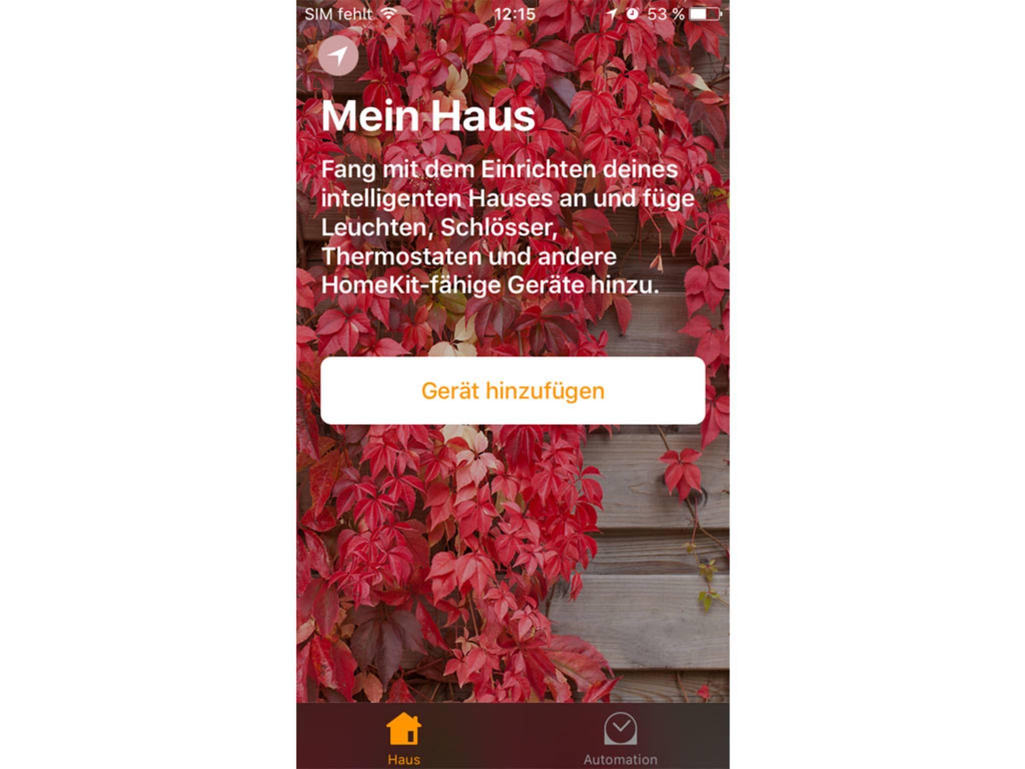 In dieser Anwendung kannst Du HomeKit-Geräte steuern.
