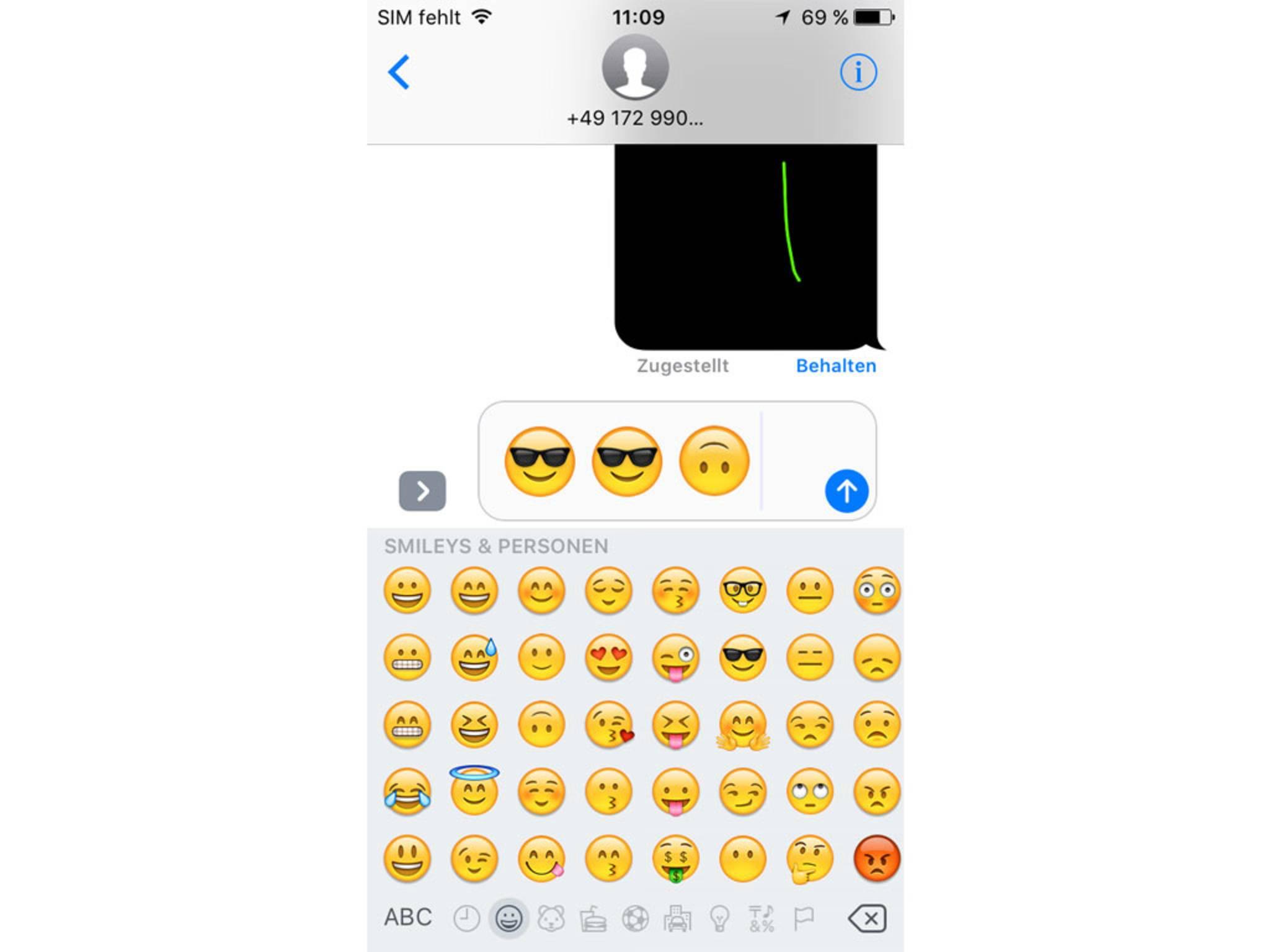 Ja, die Emojis sind deutlich größer geworden.