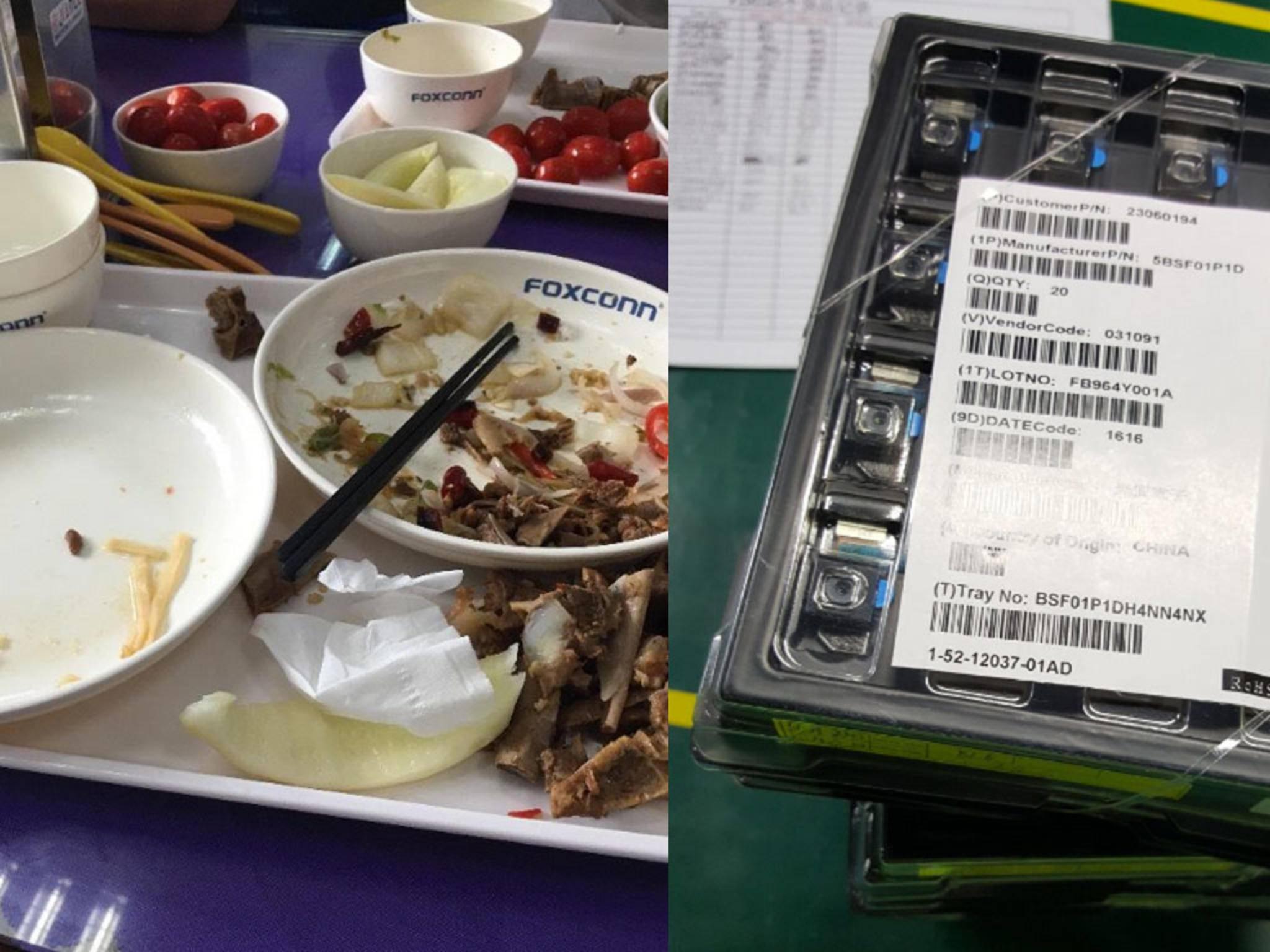 Angebliche Fotos aus einem FoxconnWerk.