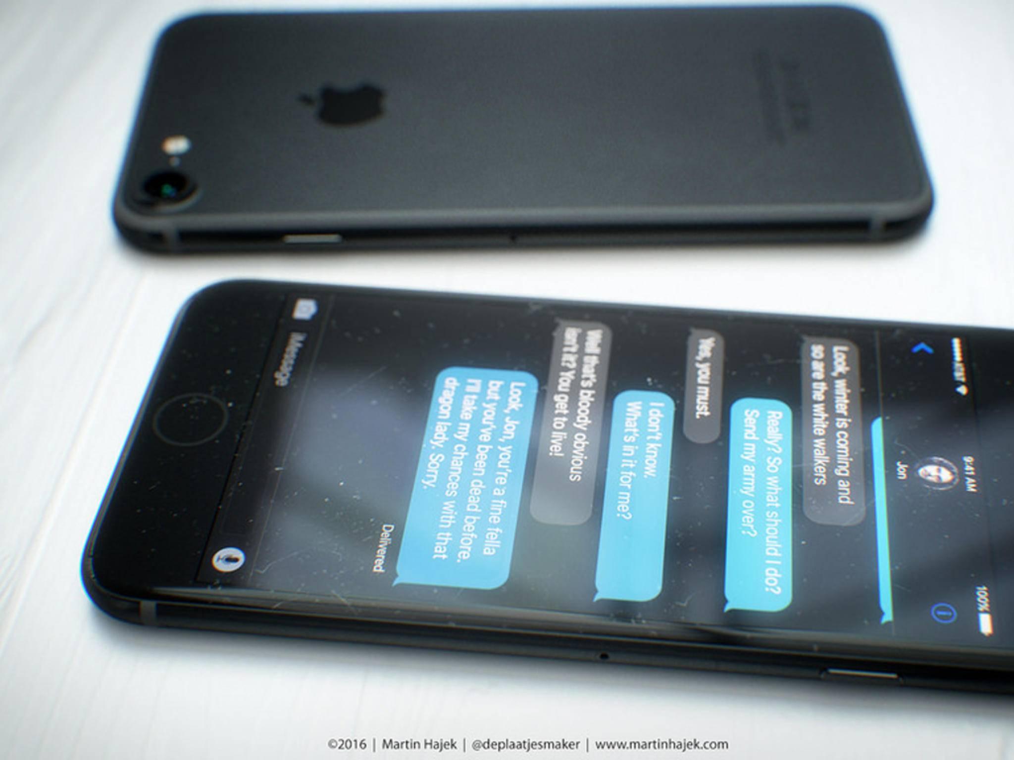 So könnten die Rückseite des iPhone 7 und iPhone 7 Plus aussehen.