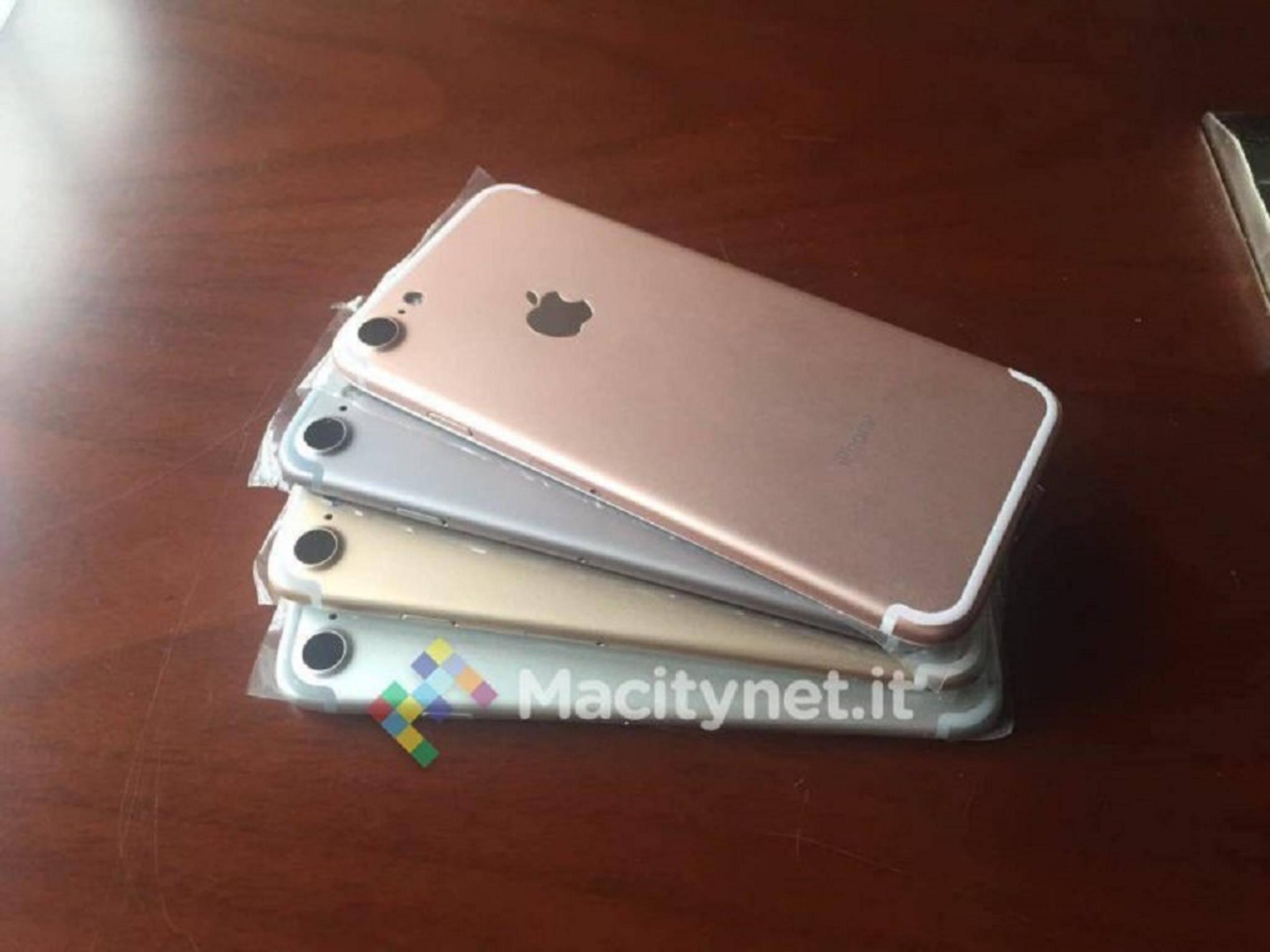 Die Gehäusefarben des neuen iPhone 7 kommen laut einem Leak ohne Space Black aus.