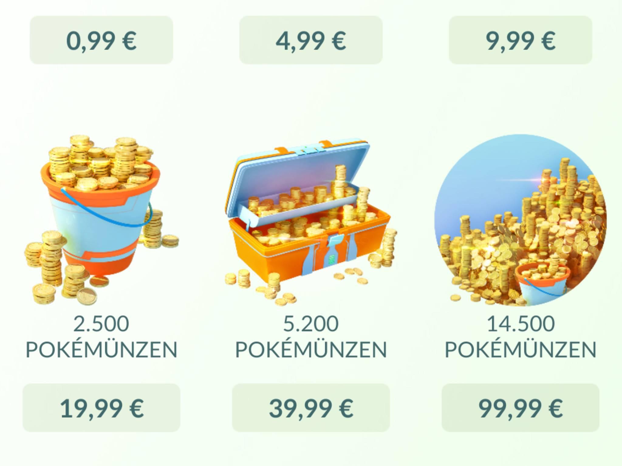 Der Kauf von Pokémünzen kann auf Dauer richtig ins (Echt)-Geld gehen.