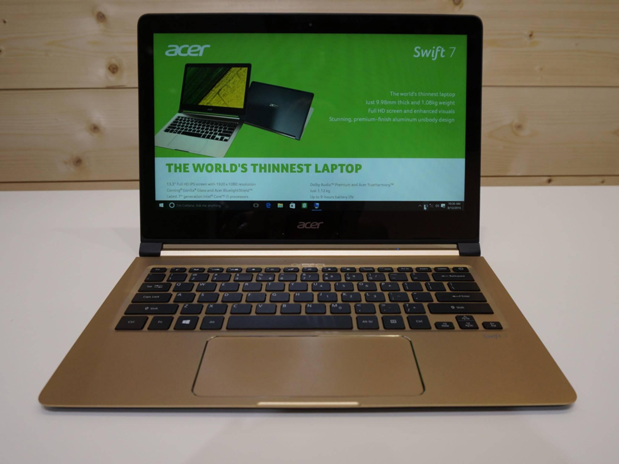 Das Highlight aus Acers aktueller Notebook-Serie ist das Switch 7.
