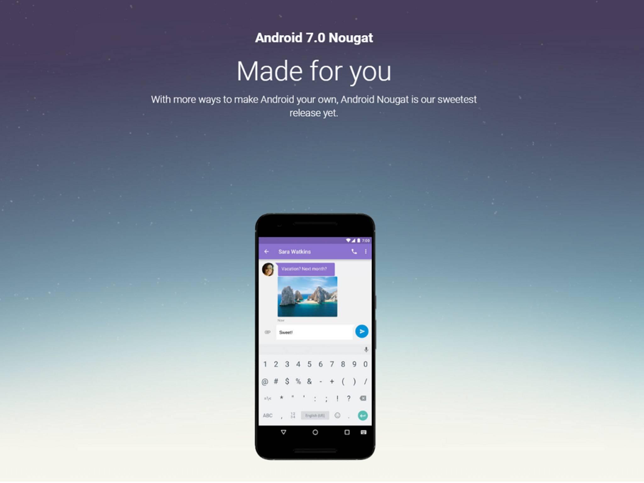Kaum ist Android 7.0 Nougat erschienen, soll bereits ein Update anstehen.