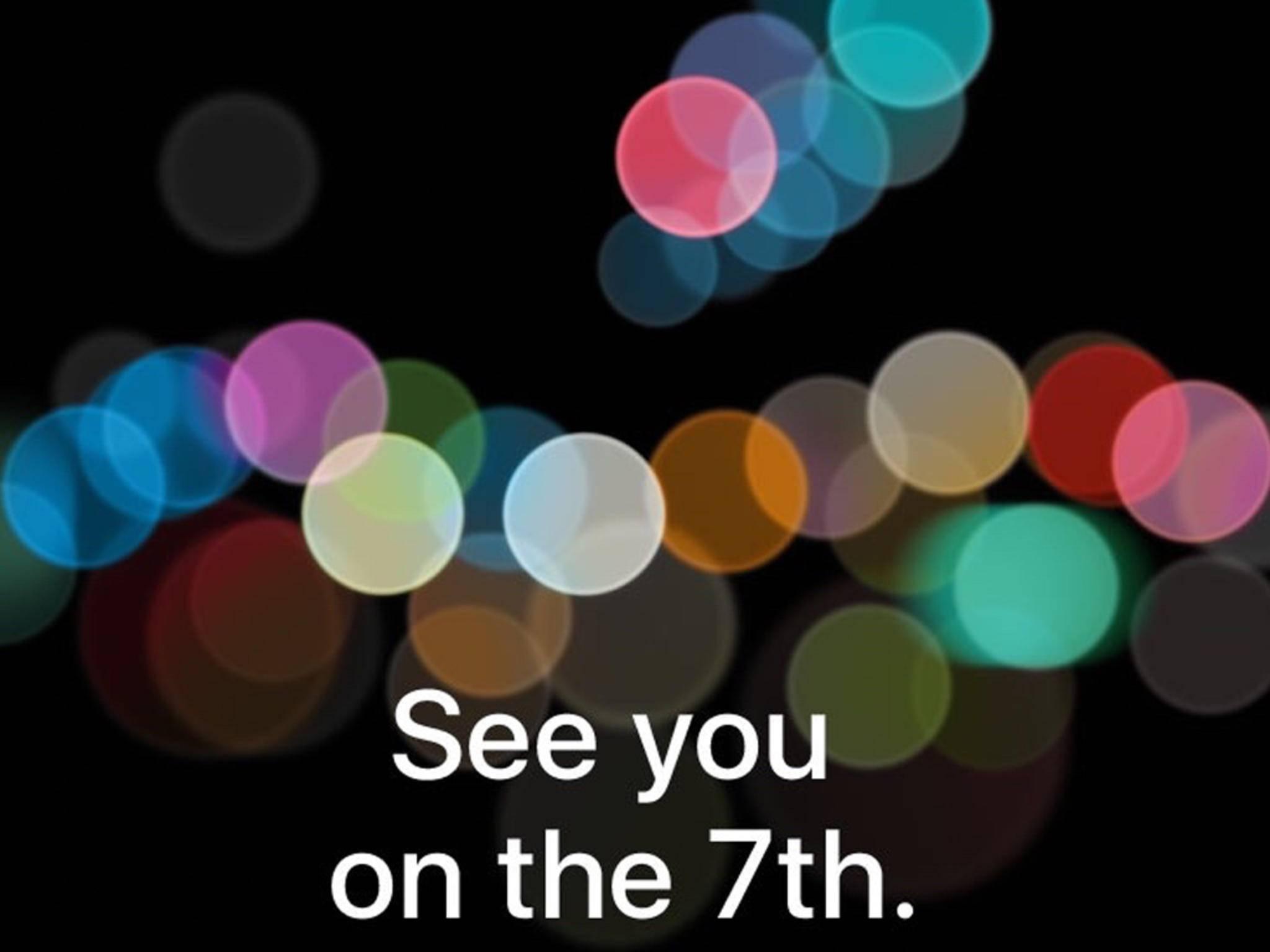 Apple lädt zur Keynote am 7. September.