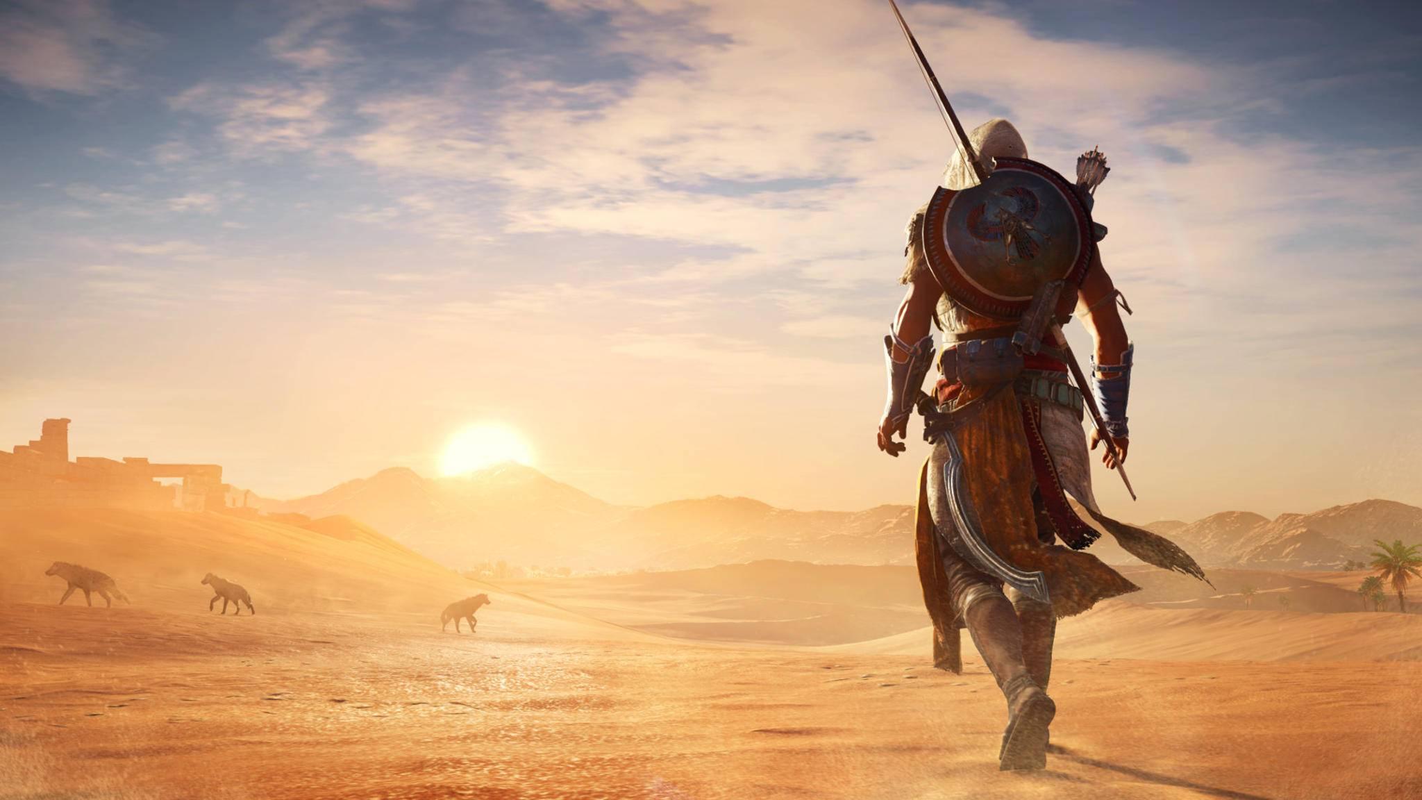 """An Einsiedler-Schauplätzen kommt Assassine Bayek in """"Assassin's Creed: Origins"""" zur Ruhe. Es lohnt sich, die versteckten Orte aufzuspüren."""