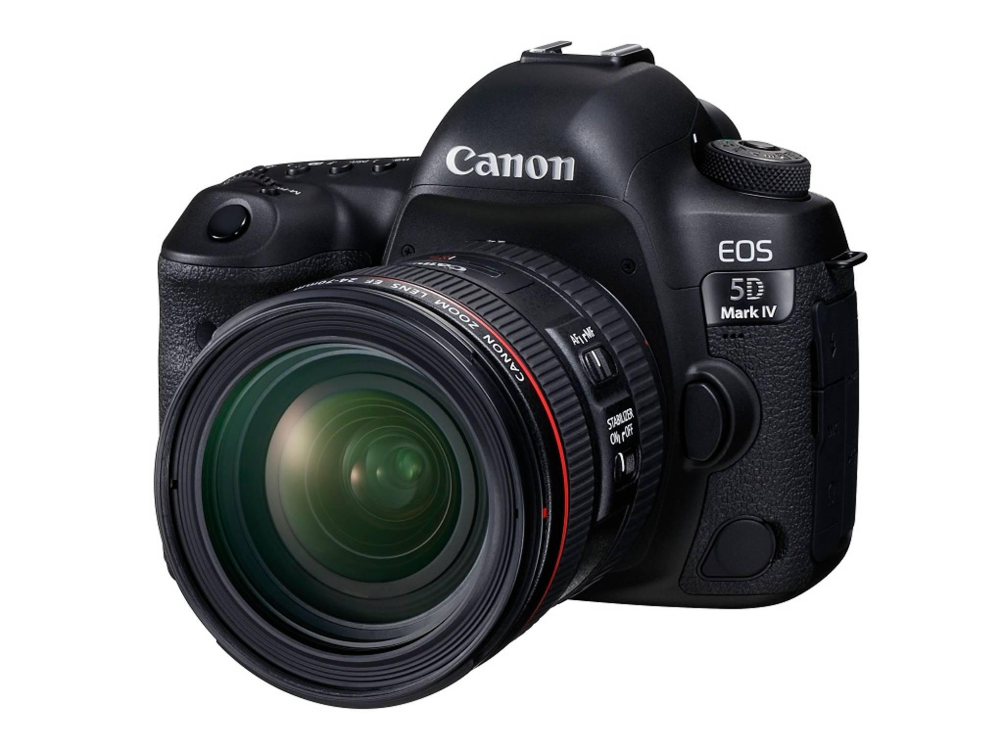 Die Canon EOS 5D Mark IV legt bei den Features ordentlich zu – aber auch beim Preis.