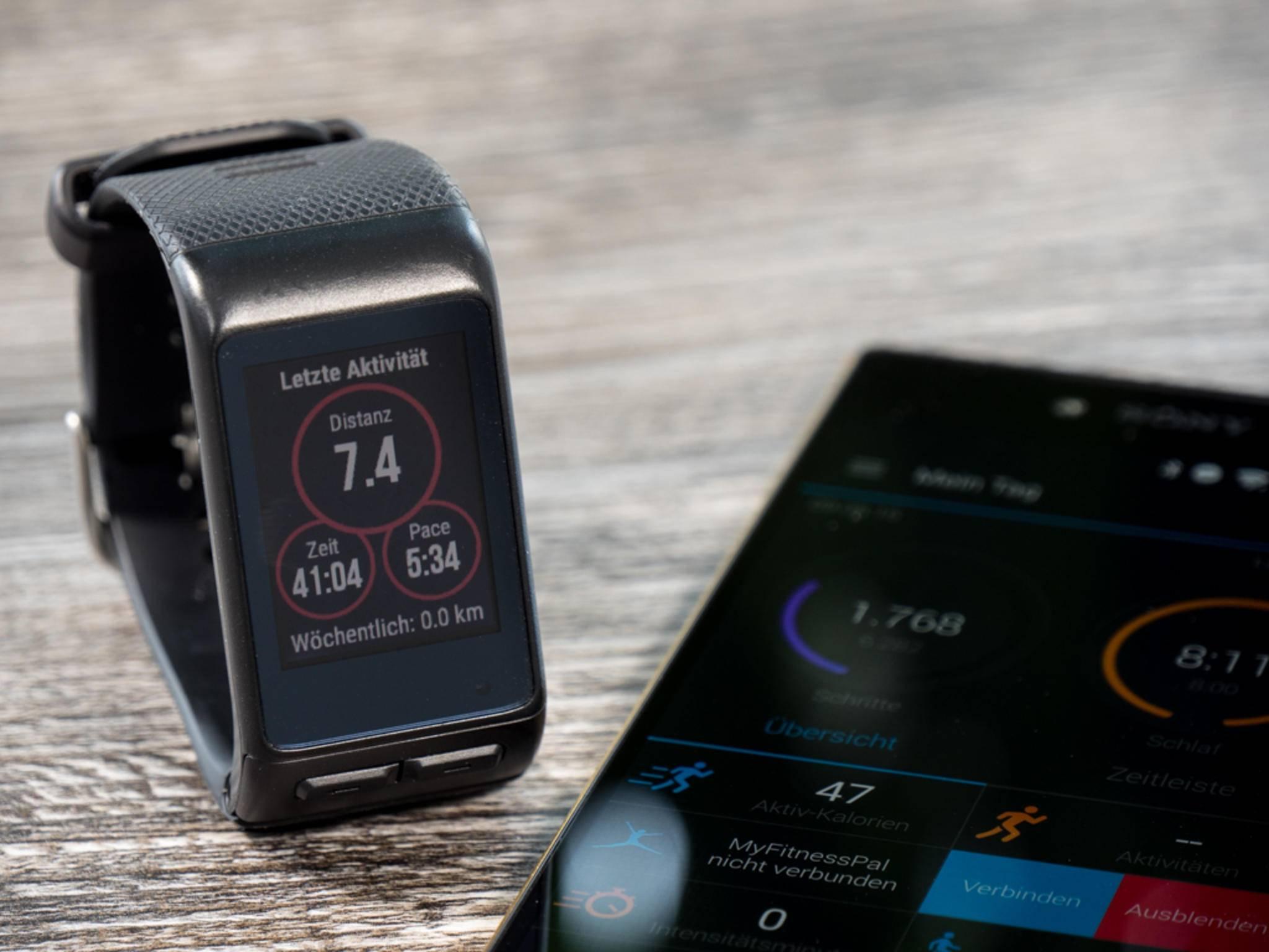 Aktivitätszusammenfassungen gibt es auf der Uhr, Detailanalysen in der App.