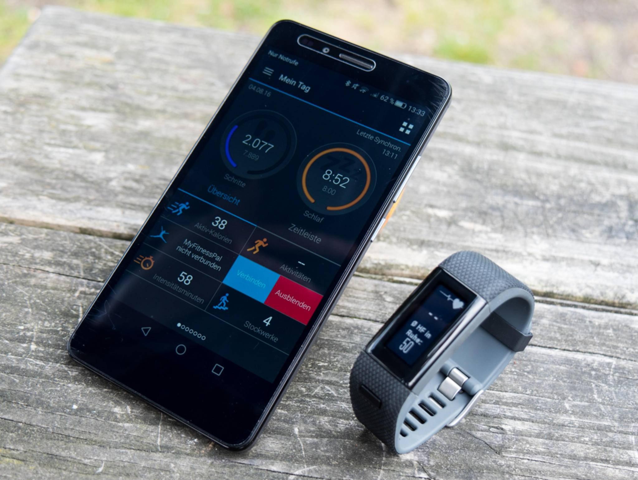 Viele Daten sind auf dem Tracker ablesbar, andere nur in der App.