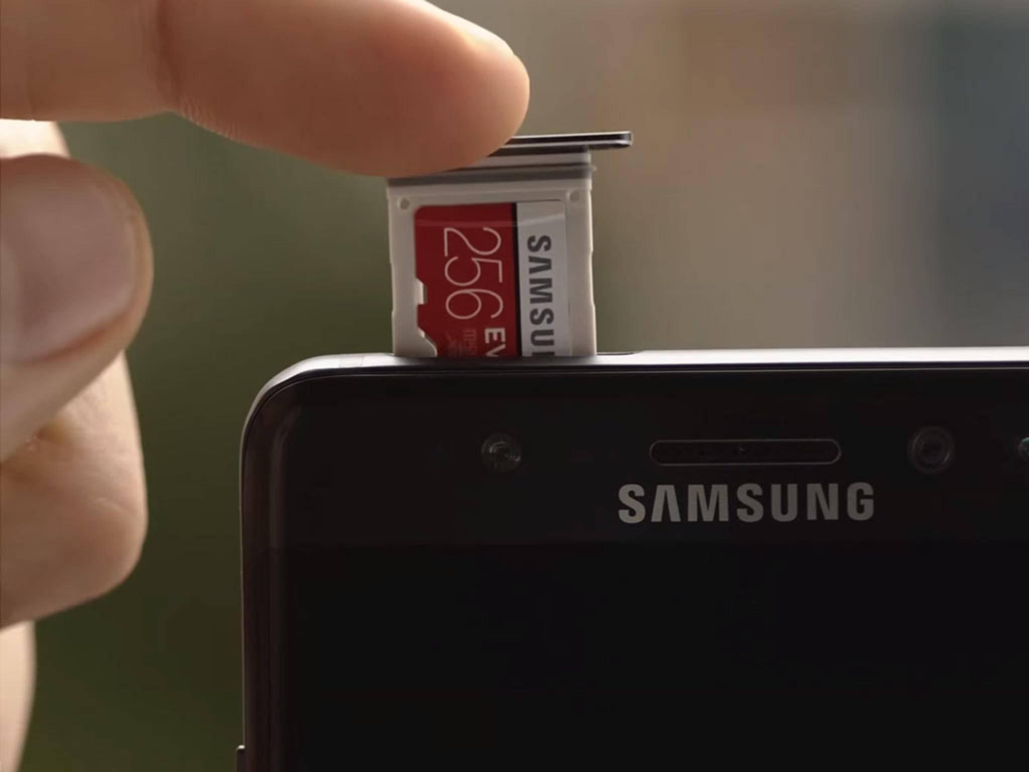 Der interne Speicher ist voll? Kein Problem beim Galaxy Note 7...