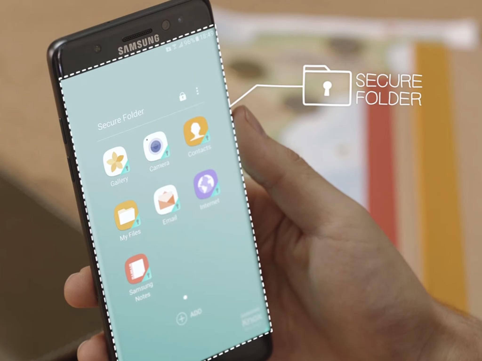 """Auf den """"Sicheren Ordner"""" des Galaxy Note 7 können Außenstehende nicht zugreifen."""