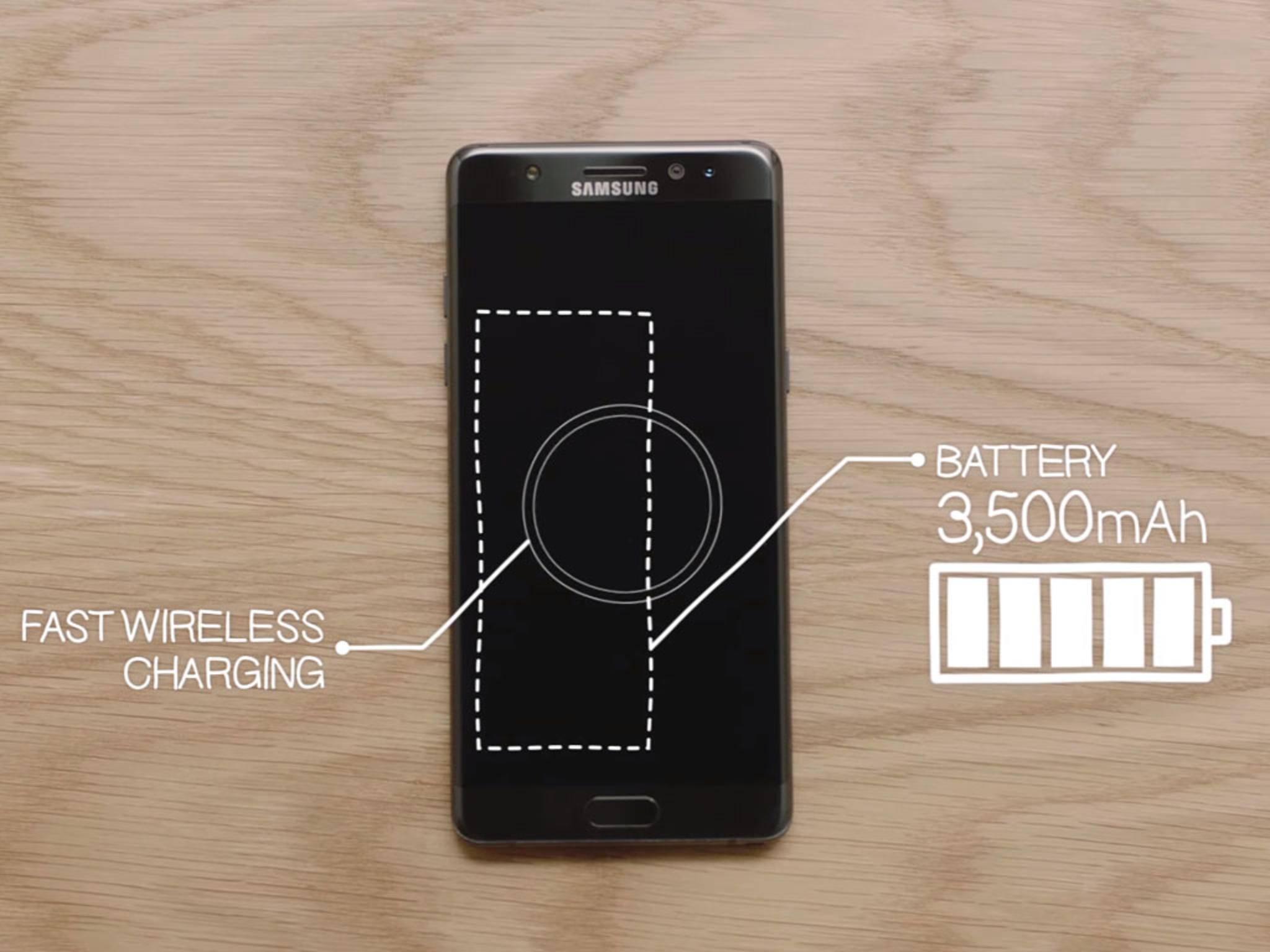 Das Galaxy Note 7 bietet nicht nur mehr Akkukapazität, sondern ist auch schneller voll.