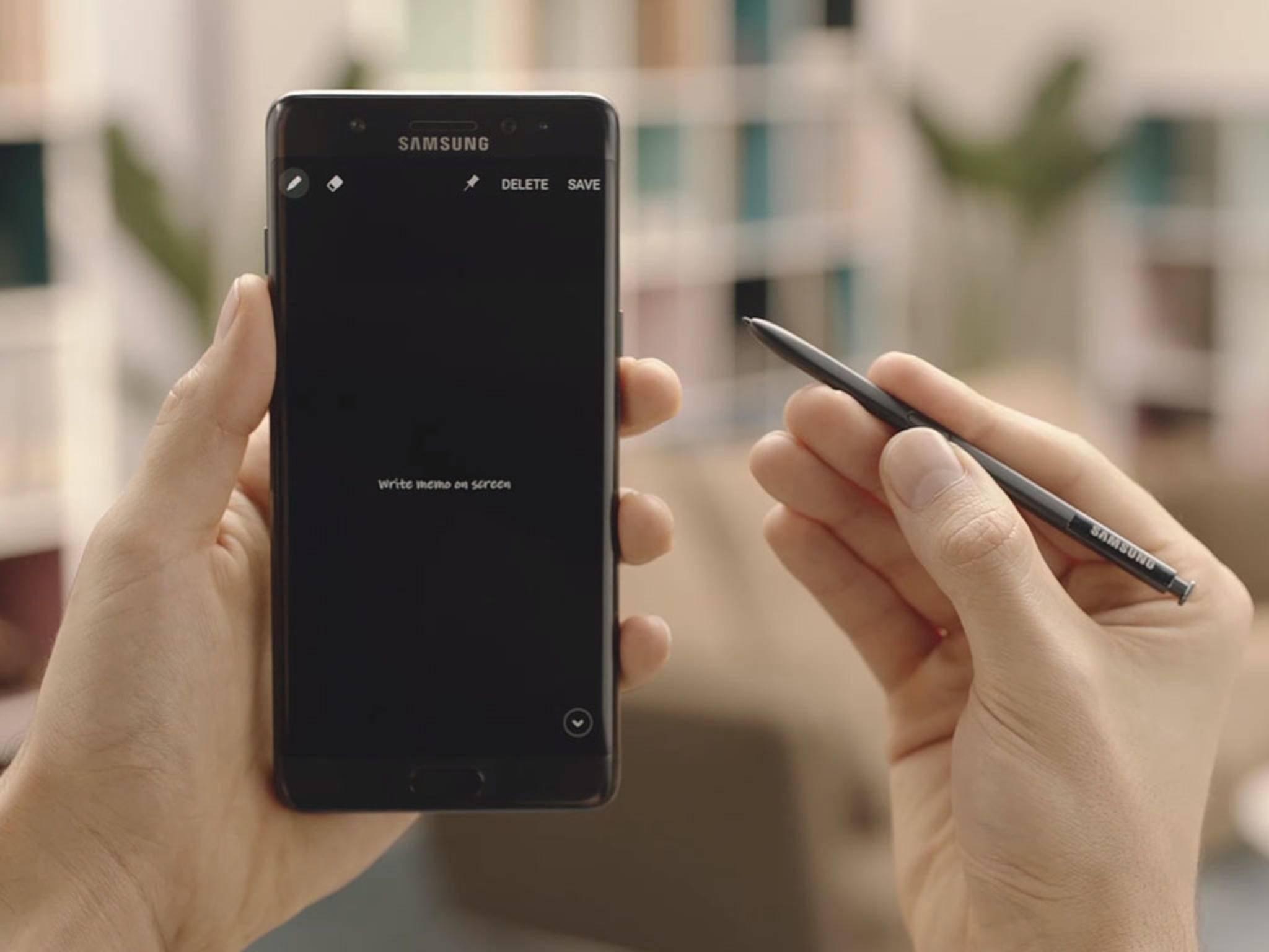 Bekommt das Galaxy S8 wie das Note 7 (Foto) einen S Pen?