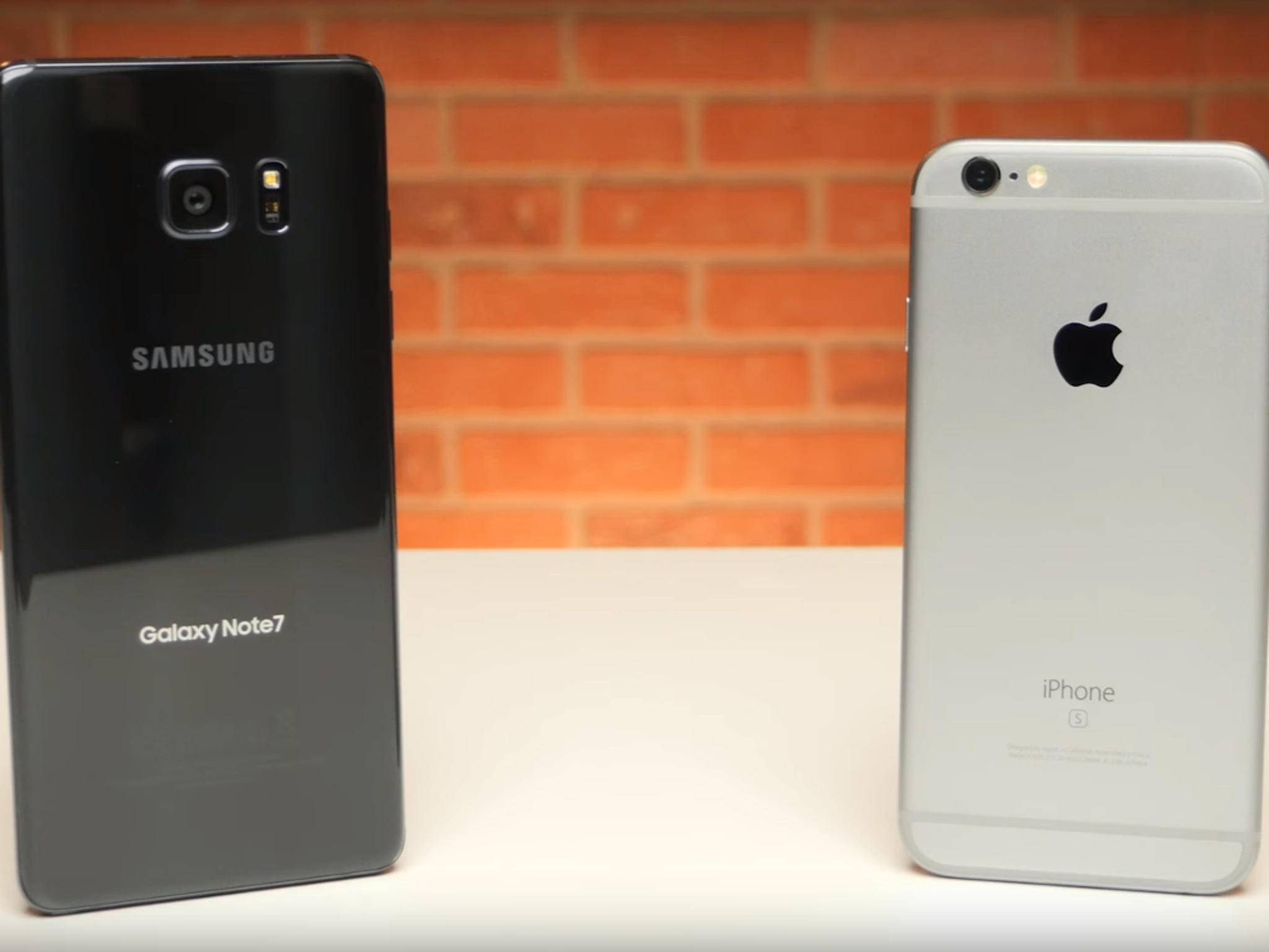 Das Galaxy Note 7 zog bei einem App-Test bereits den Kürzeren gegen das iPhone 6s.