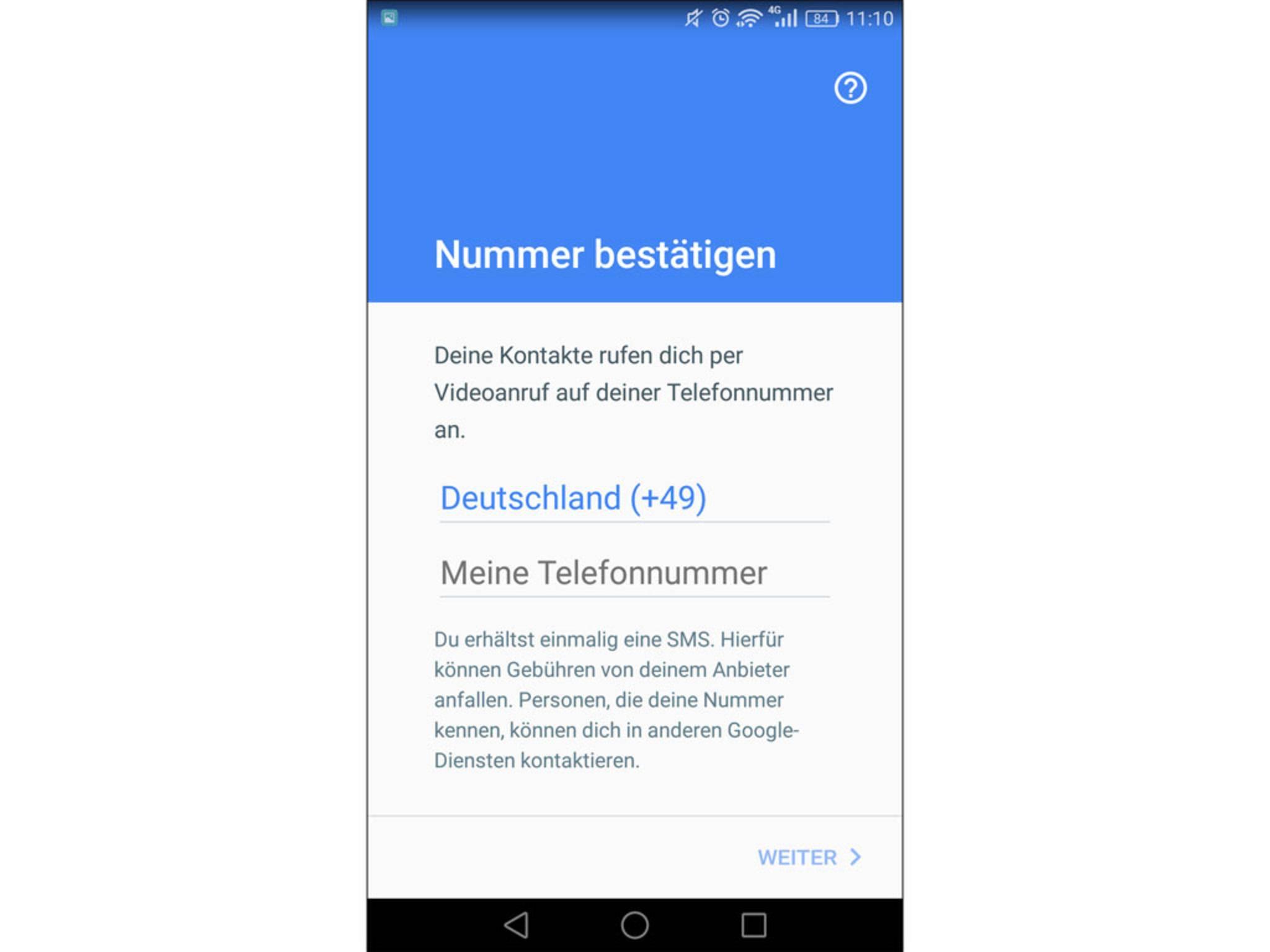 Um Google Duo nutzen zu können, braucht es nur eine Telefonnummer.