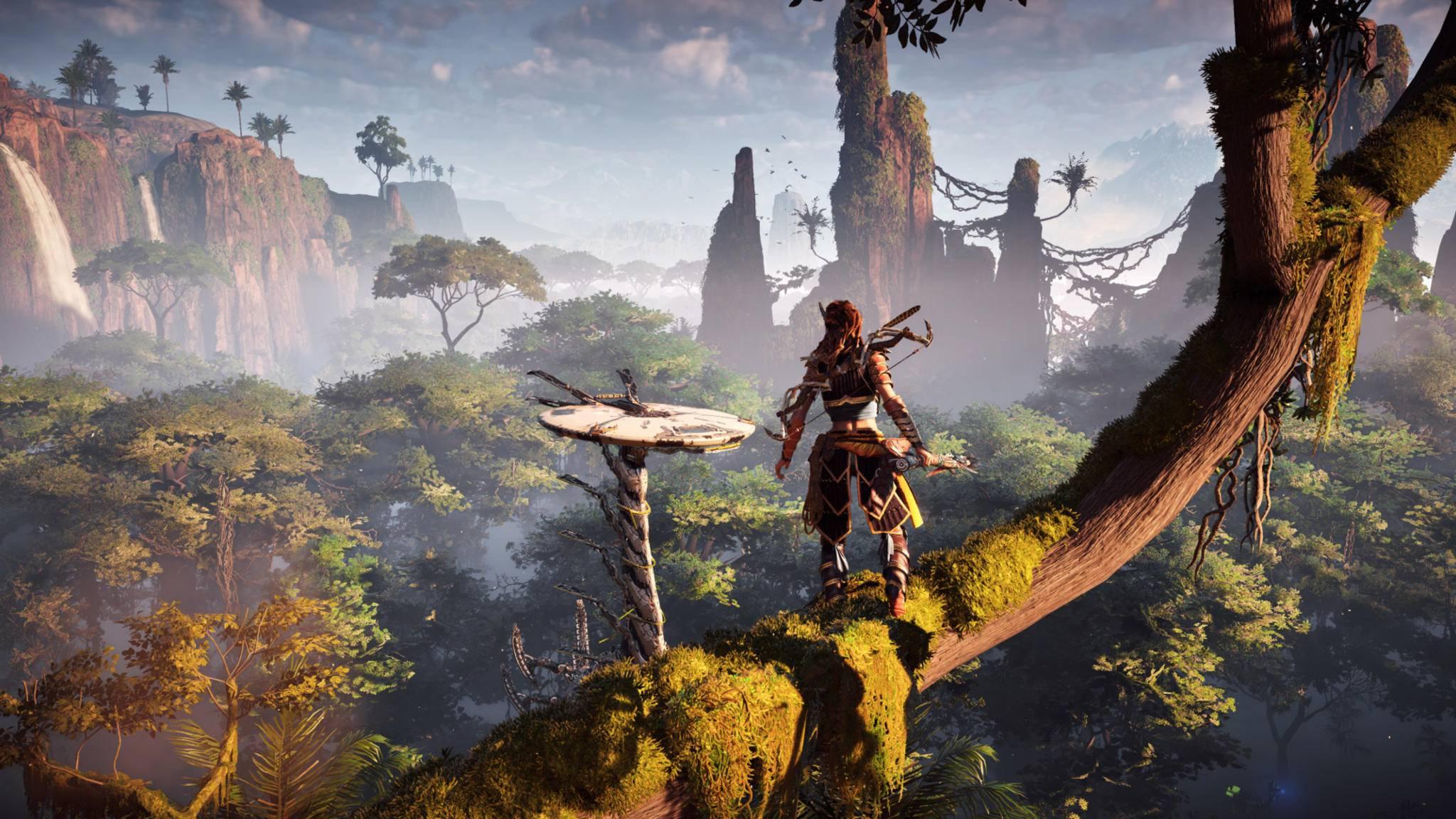 """Mit einem geringen Inputlag spielen sich die Games wie """"Horizon Zero Dawn"""" flüssiger und ohne Schlieren."""