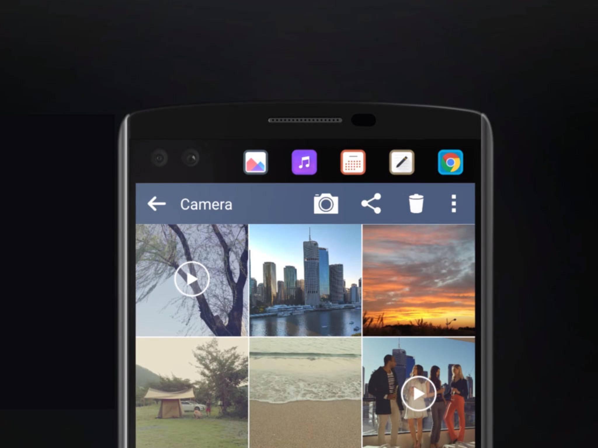 Das LG V20 soll wie sein Vorgänger ein Zusatzdisplay fürs Multitasking bekommen.