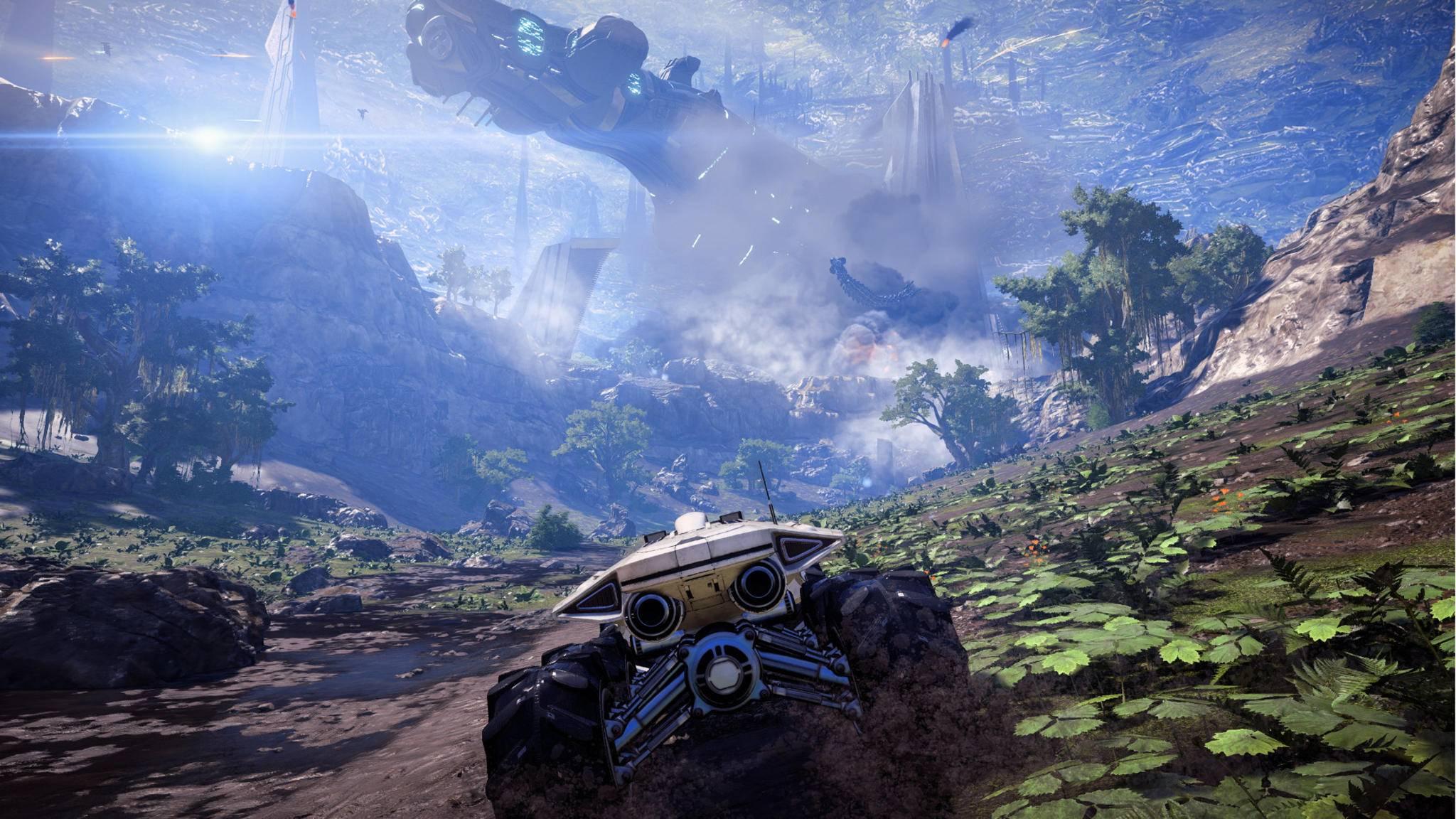 """Mit dem Buggy über fremde Planeten – das war in allen """"Mass Effect""""-Teilen Standard."""