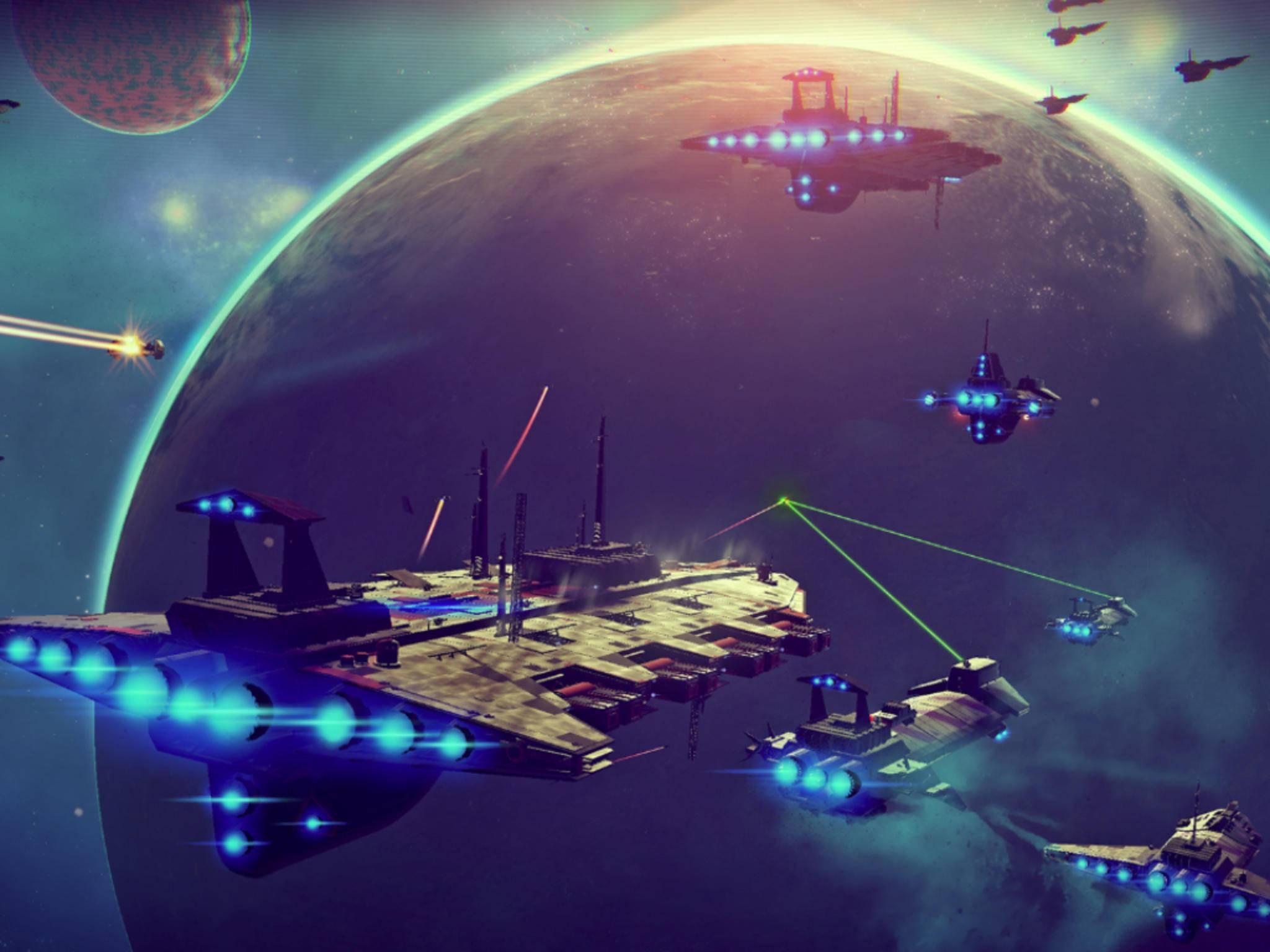 Große Schiffe gehören vorerst den NPCs, später sollen wir diese auch selbst bauen können.