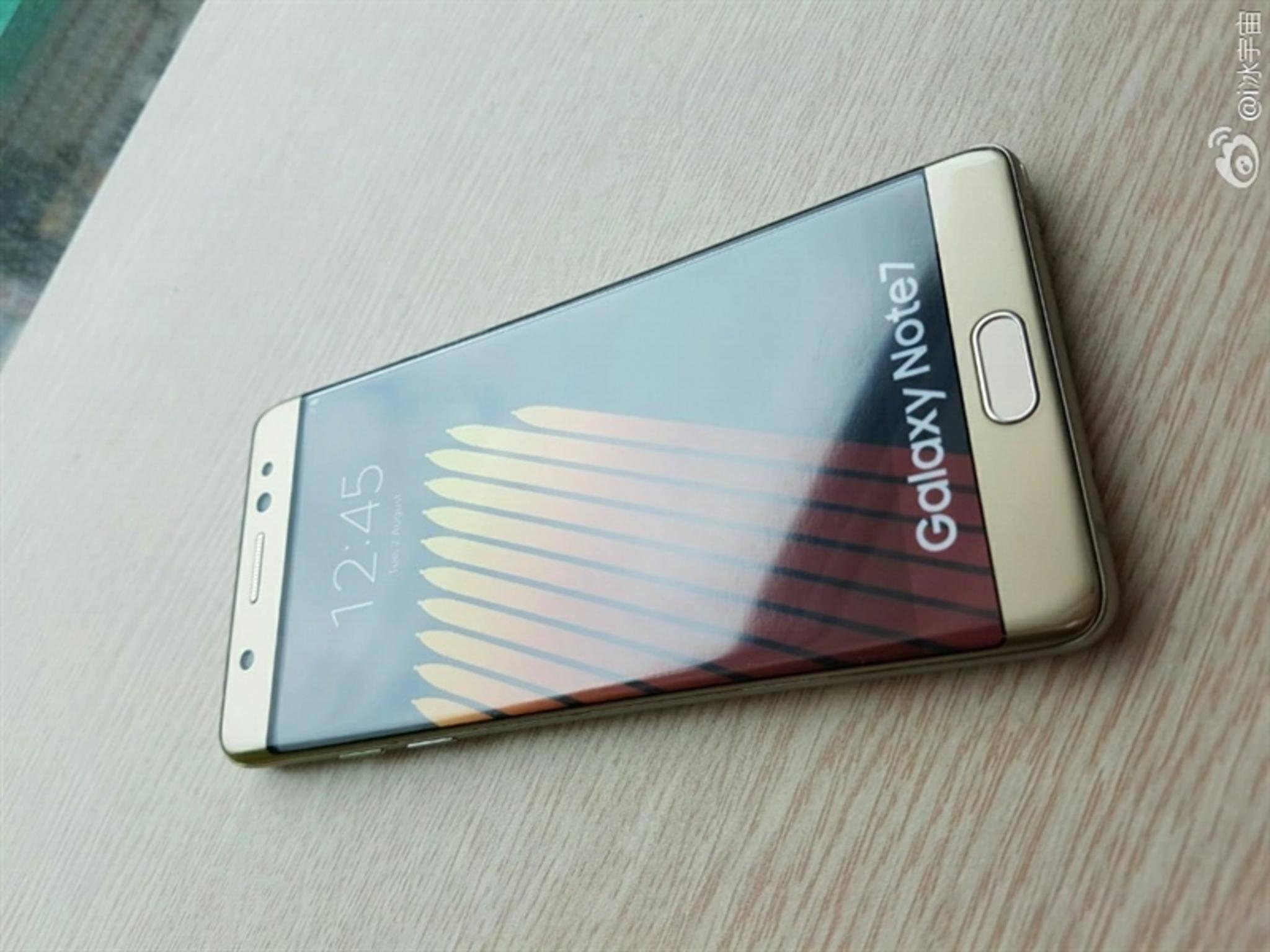 Die womöglich letzten Leak-Bilder zum Galaxy Note 7.