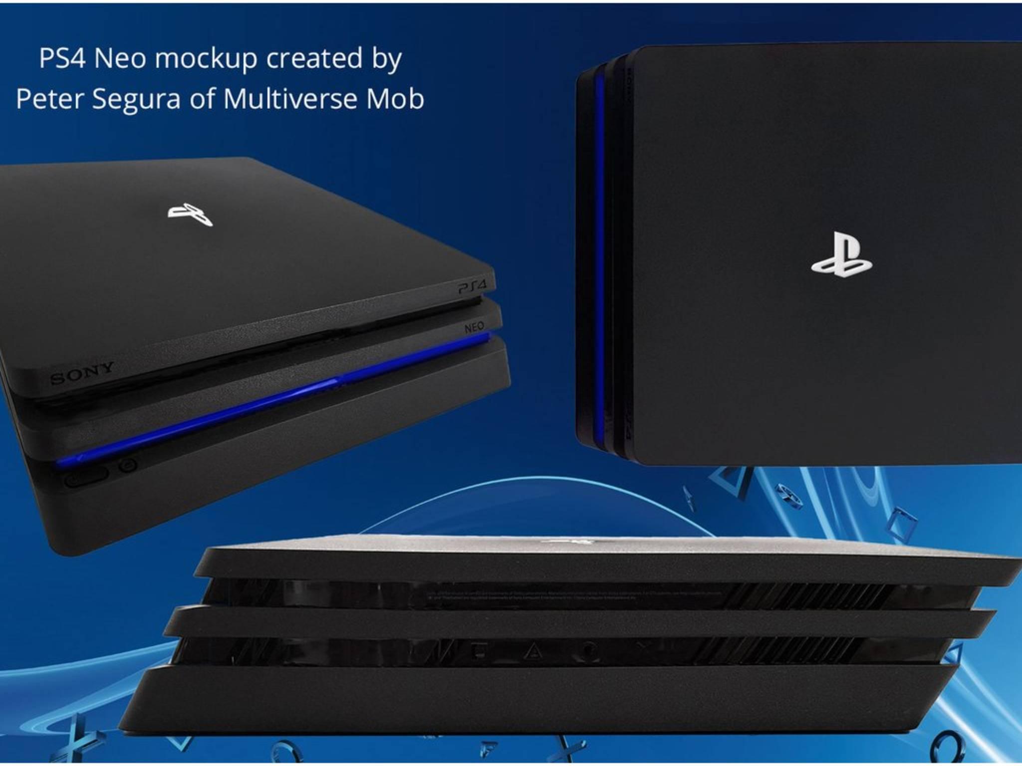 So soll die PS4 Neo laut Mockup aussehen.