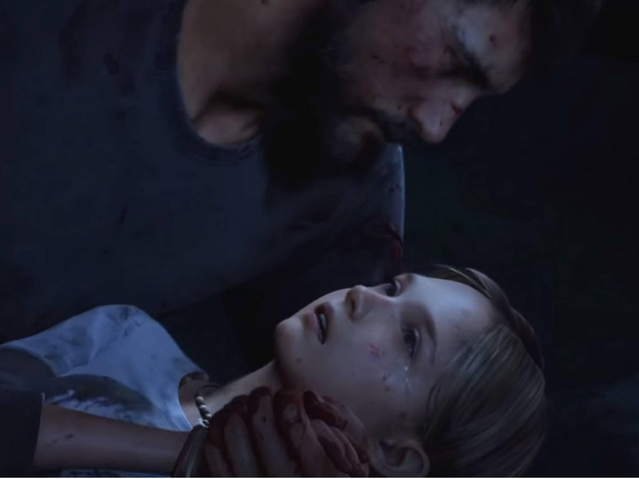 """In """"The Last of Us"""" stirbt Sarah in den Armen ihres Vaters."""