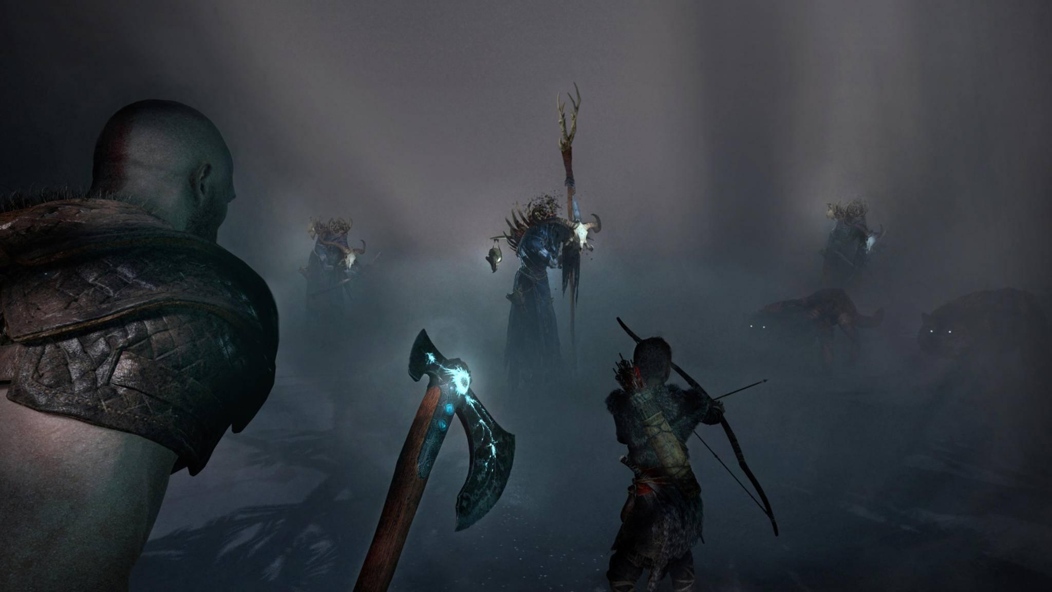 """Im kommenden """"God of War"""" kämpft Kratos mit einer Axt statt mit seinen bekannten Schwertern."""