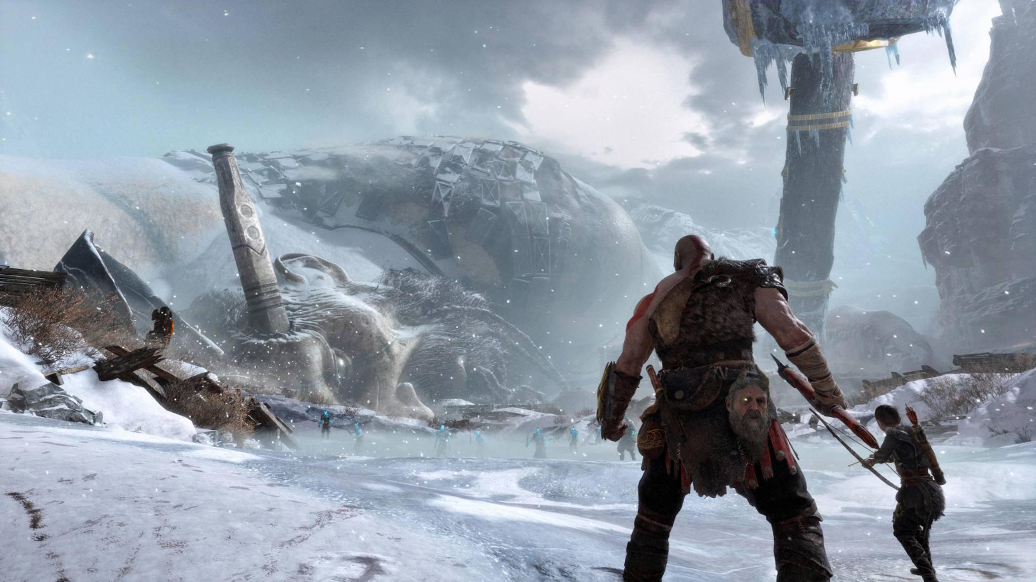 """Weiße Weihnachten? Diese Inhalte für """"God of War"""" gibt es jetzt gratis."""