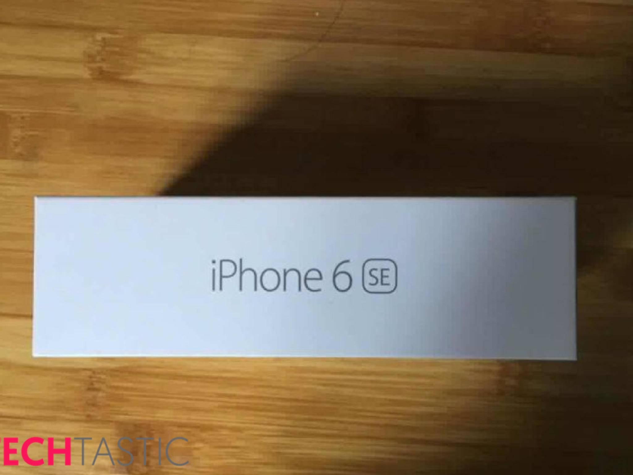 """Diese Verpackung für ein """"iPhone 6 SE"""" ist eindeutig ein Fake."""