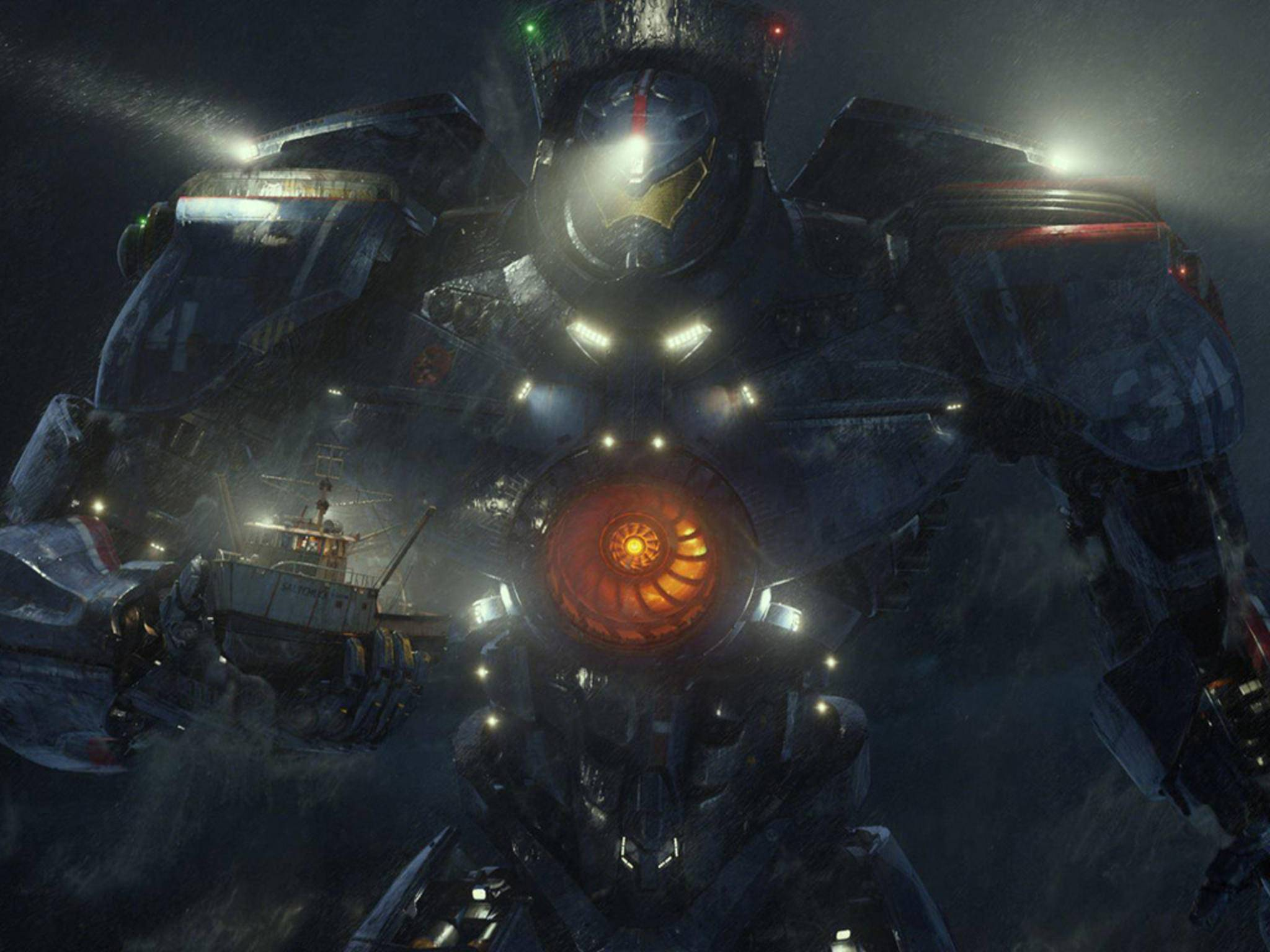 """In """"Pacific Rim"""" wehrt sich die Menschheit mit Riesenrobotern gegen gigantische Monster aus der Tiefe."""