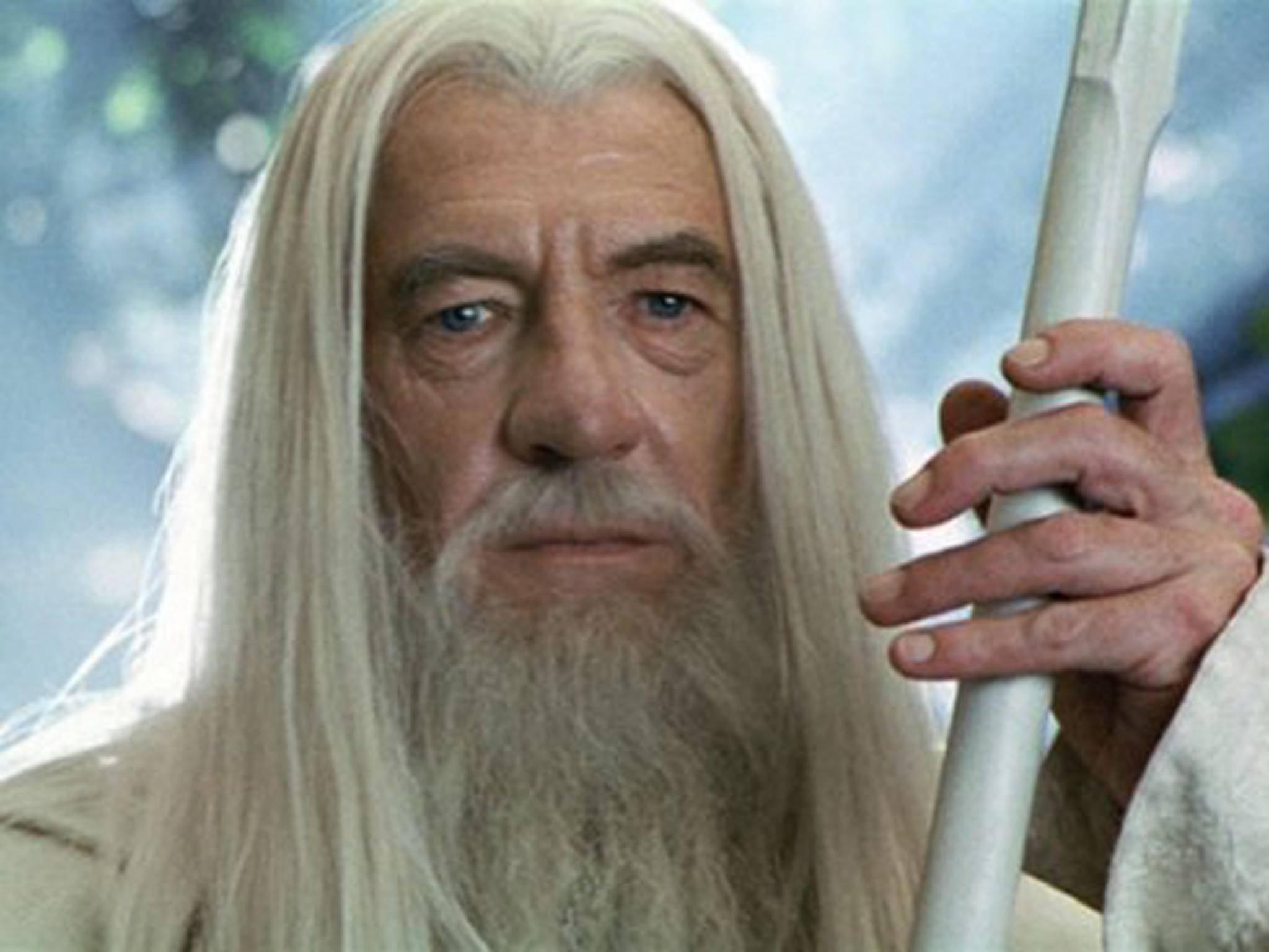 """Ian McKellen spielt in """"Herr der Ringe"""" Gandalf, den Weißen."""