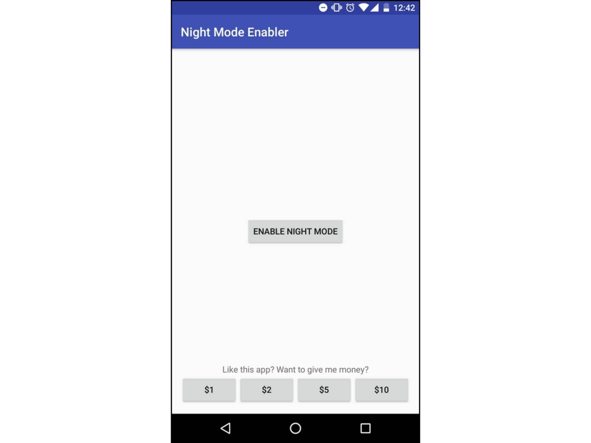 Mit der App kannst Du den Nachtmodus freischalten.