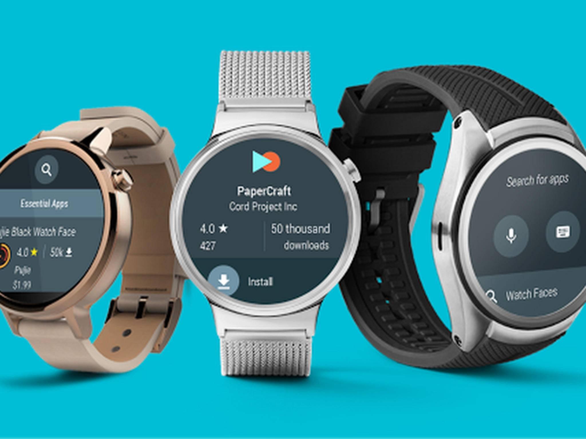 Google präsentiert bereits Android Wear 2.0 und möchte wohl auch die passenden Smartwatches anbieten.