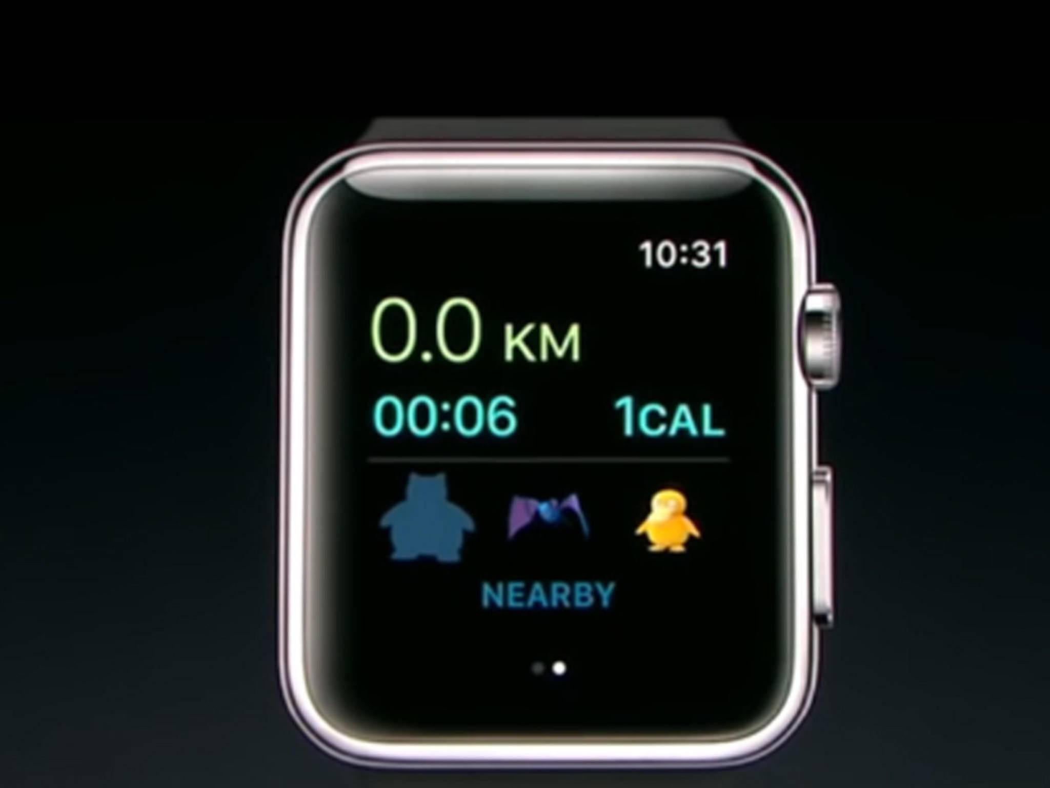 """Auf der Apple-Keynote wurde """"Pokémon Go"""" für die neue Apple Watch angekündigt."""
