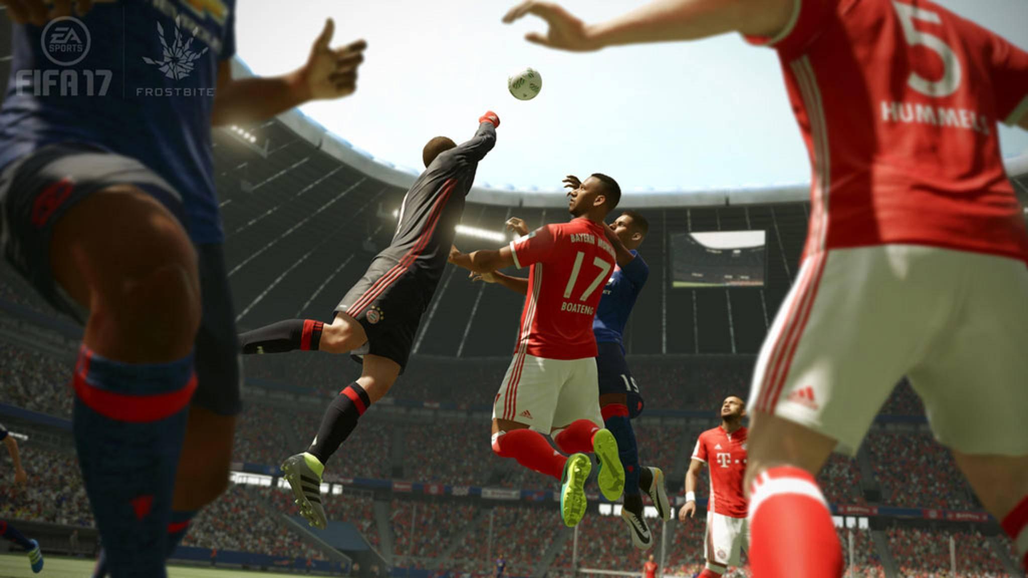 """Spektakuläre Fouls werden in """"FIFA 17"""" manchmal nur unzureichend geahndet. Für """"FIFA 18"""" sollen die Schiedsrichter daher ein Update bekommen."""