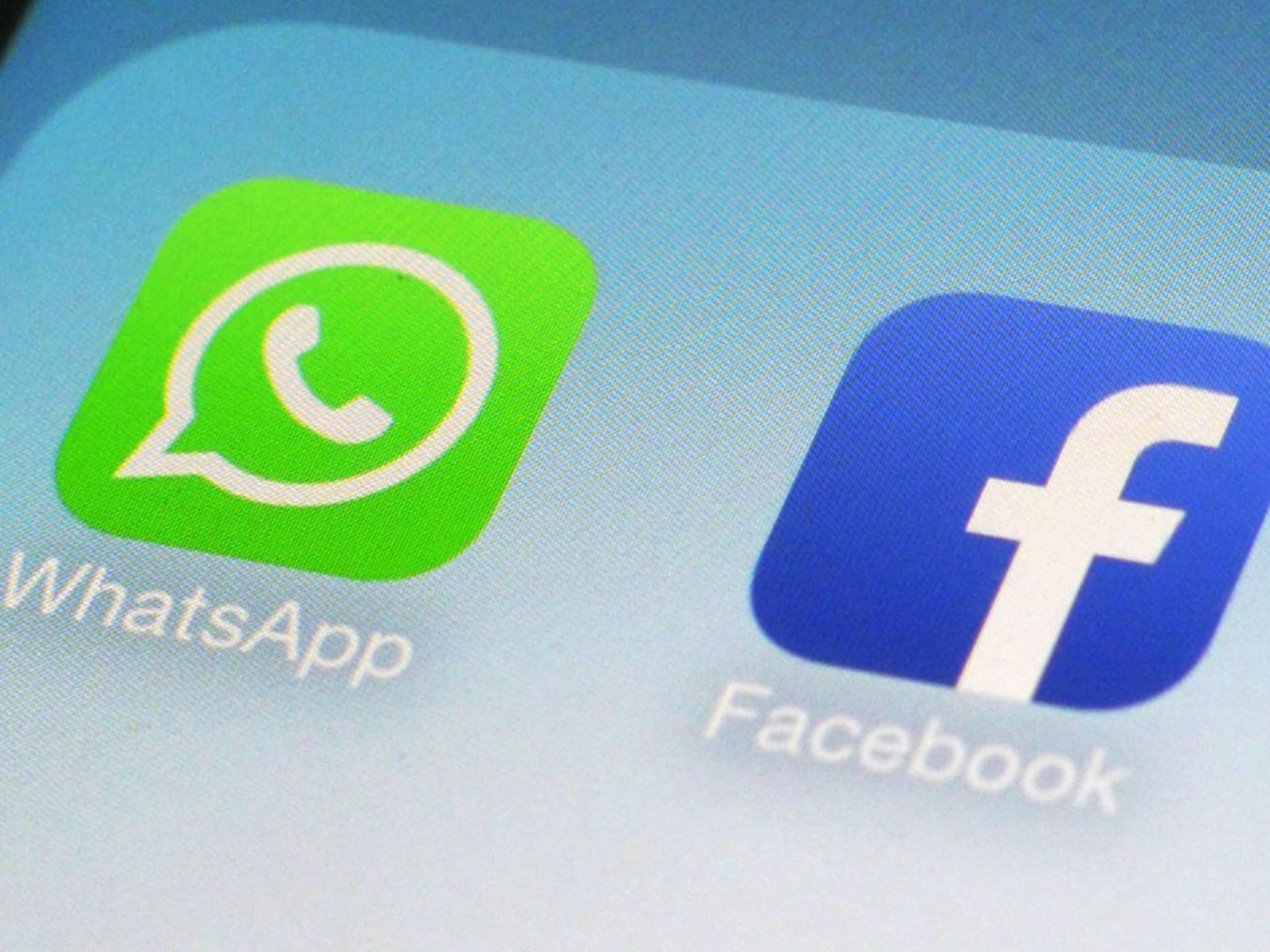 Dürfen in Deutschland keine Daten austauschen: WhatsApp und Facebook.