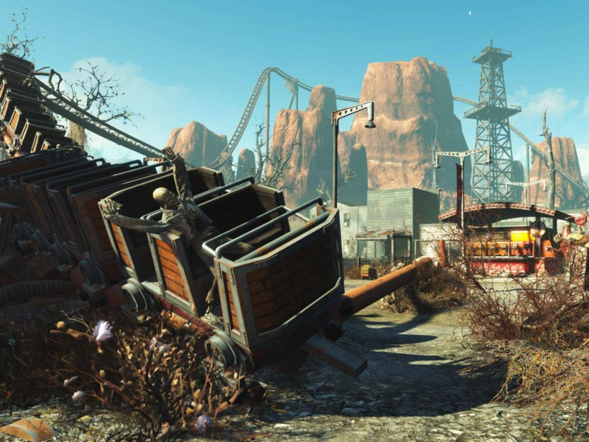 """Im """"Fallout 4""""-DLC """"Nuka-World"""" ist man in einem postapokalyptischen Vergnügungspark unterwegs."""
