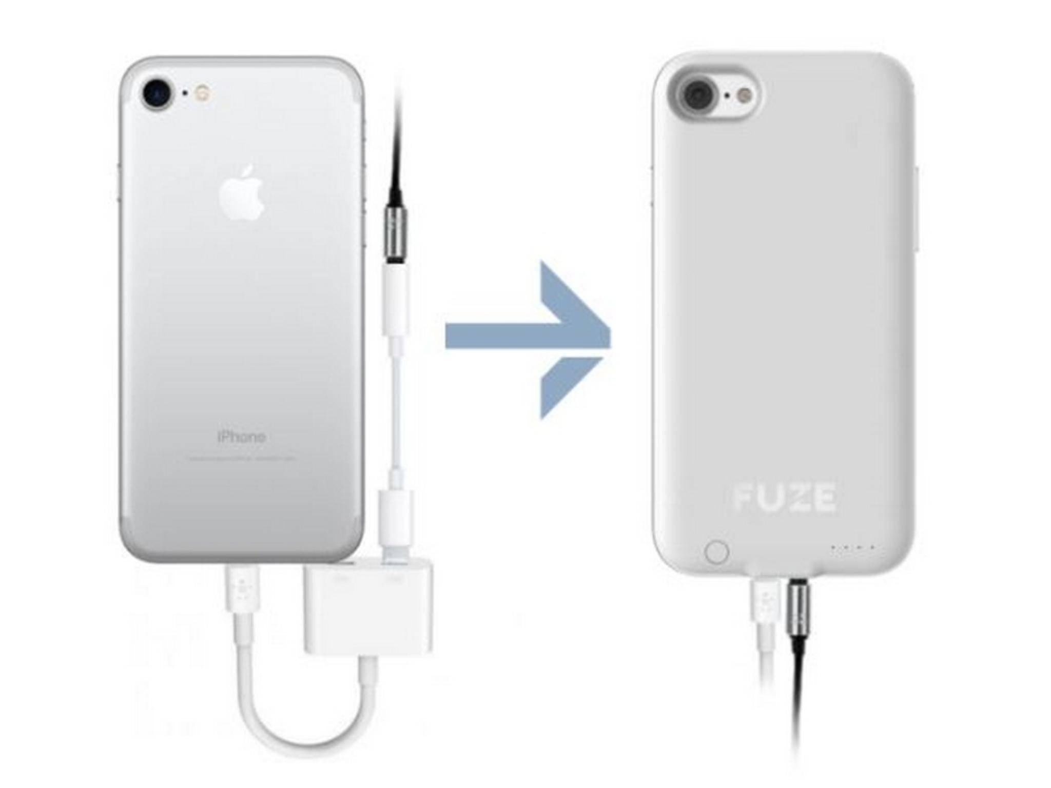 Das Fuze Case für das iPhone 7 bringt den Kopfhöreranschluss zurück.