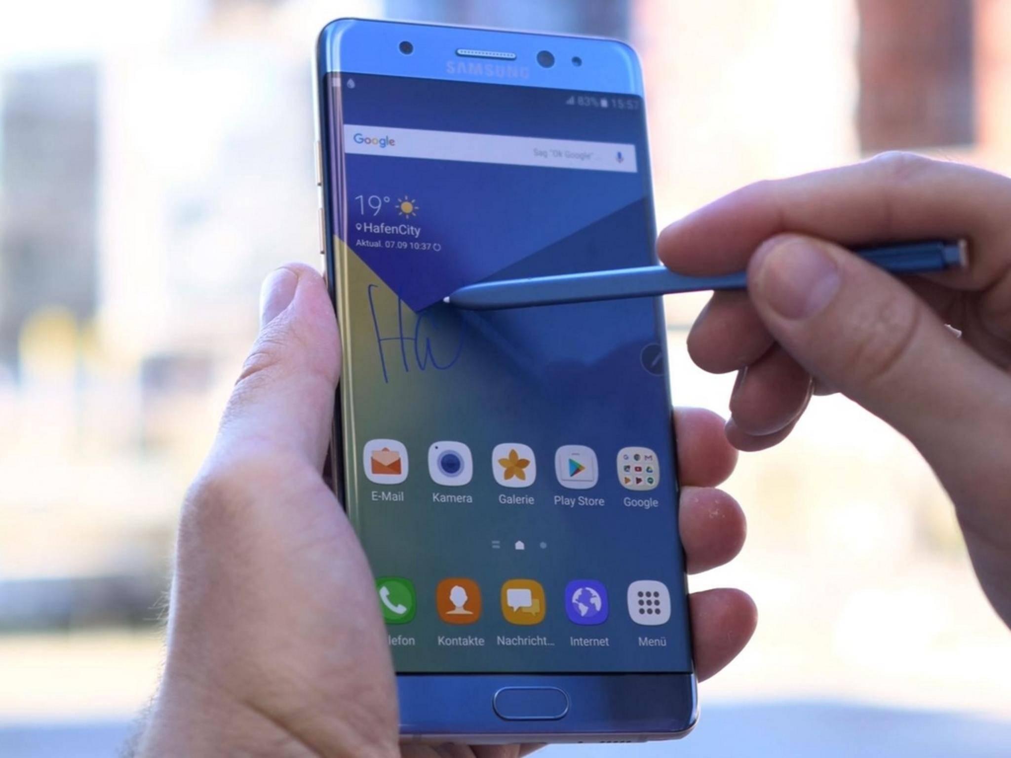 So sieht das Samsung Galaxy Note 7 in intaktem Zustand aus.