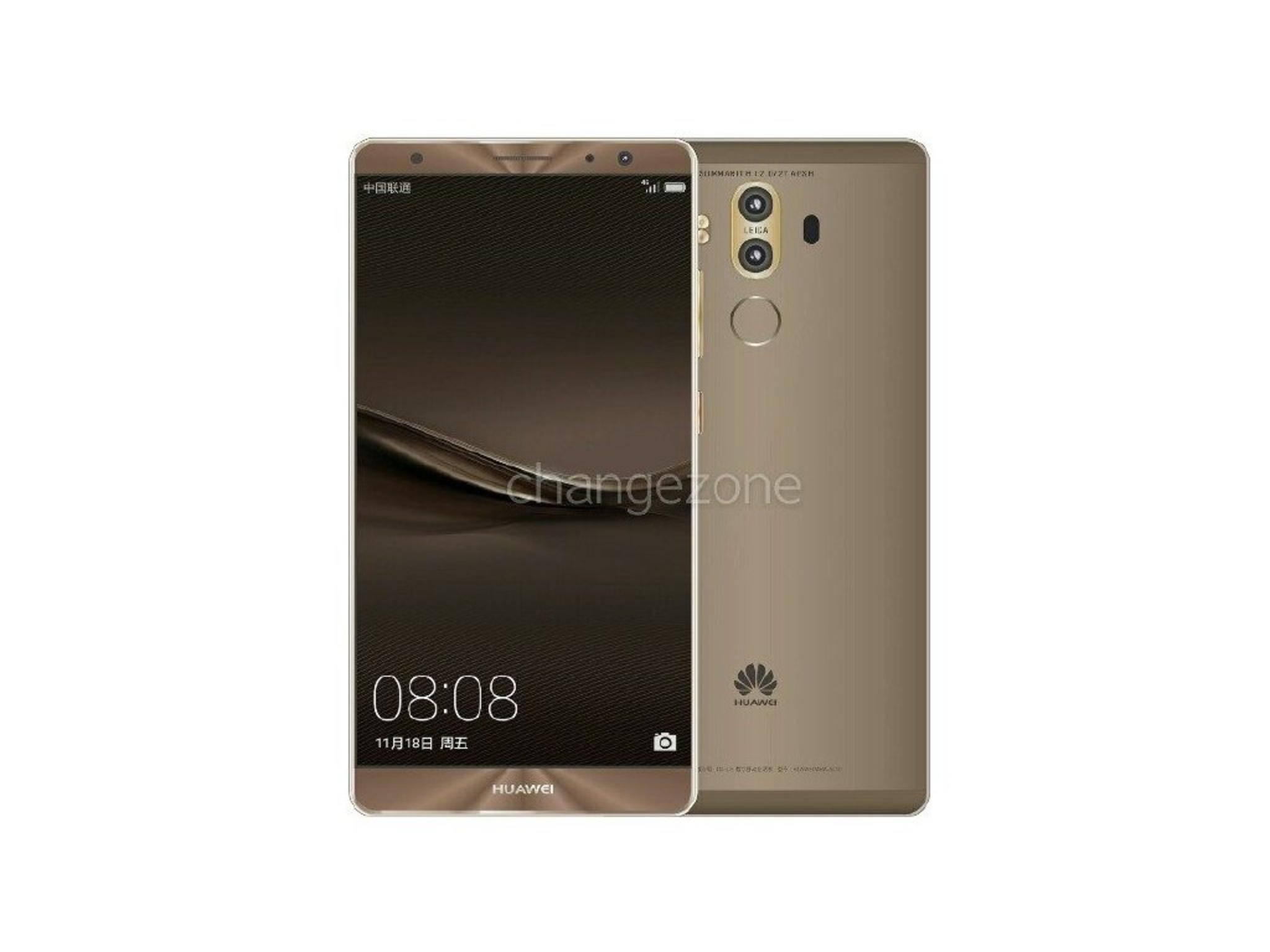Das Huawei Mate 9 soll in 5 Minuten 50 Prozent des Akkus aufladen können.