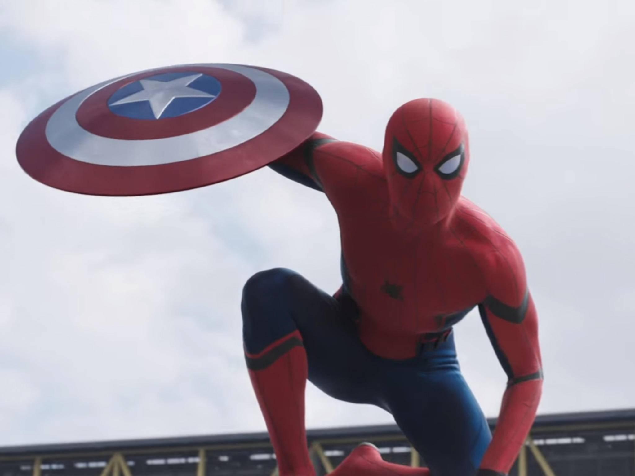 "Tom Holland als Spider-Man in ""Captain America: Civil War"""