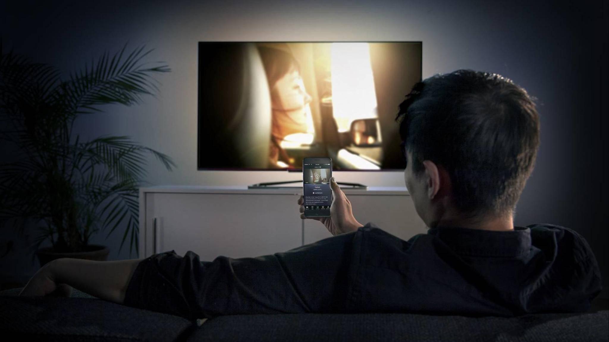 Waipu macht das Smartphone zum TV-Empfänger.