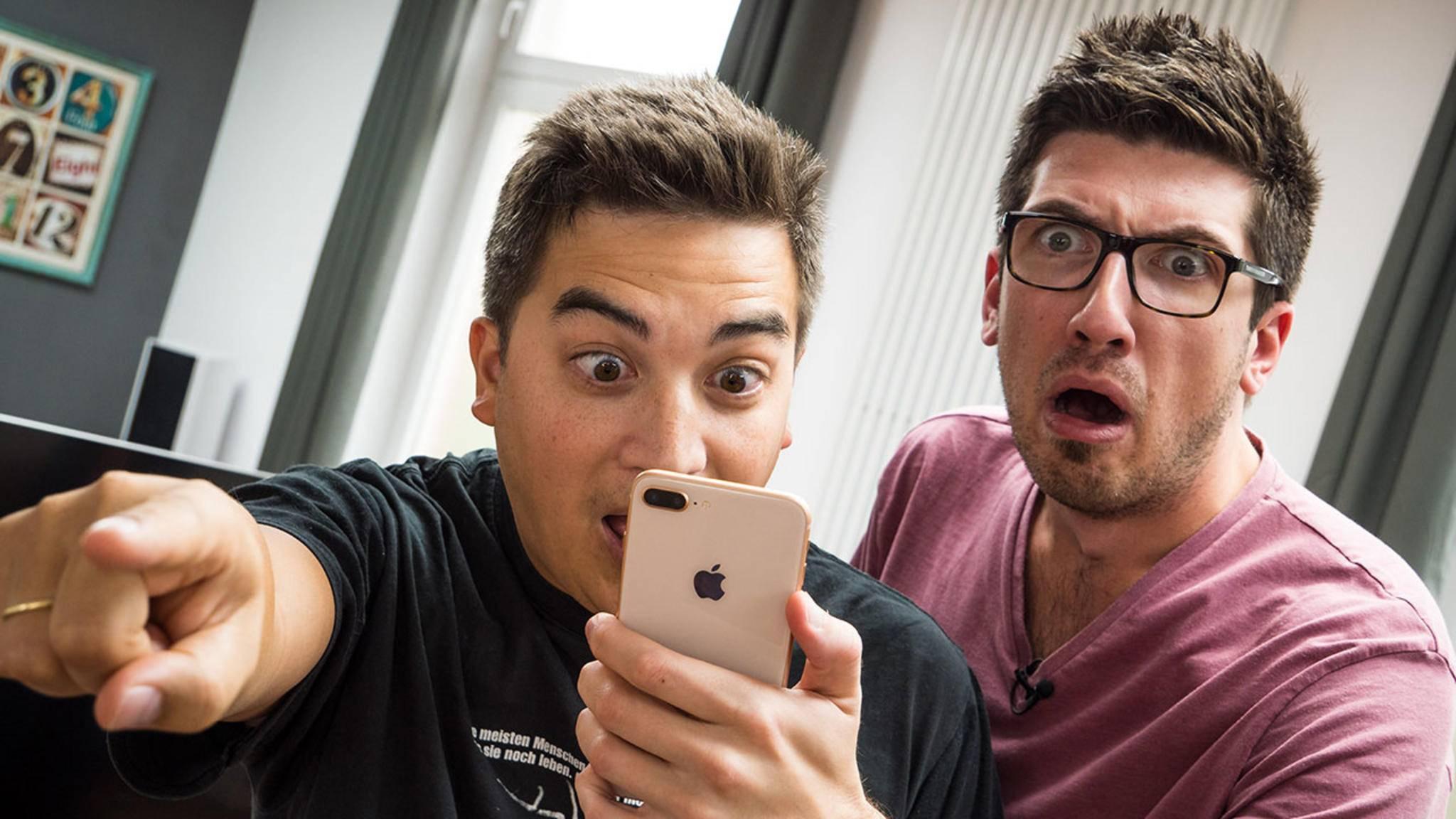 Staunende Gesichter: Es gibt unzählige iOS-Gesten, die kaum jemand kennt.